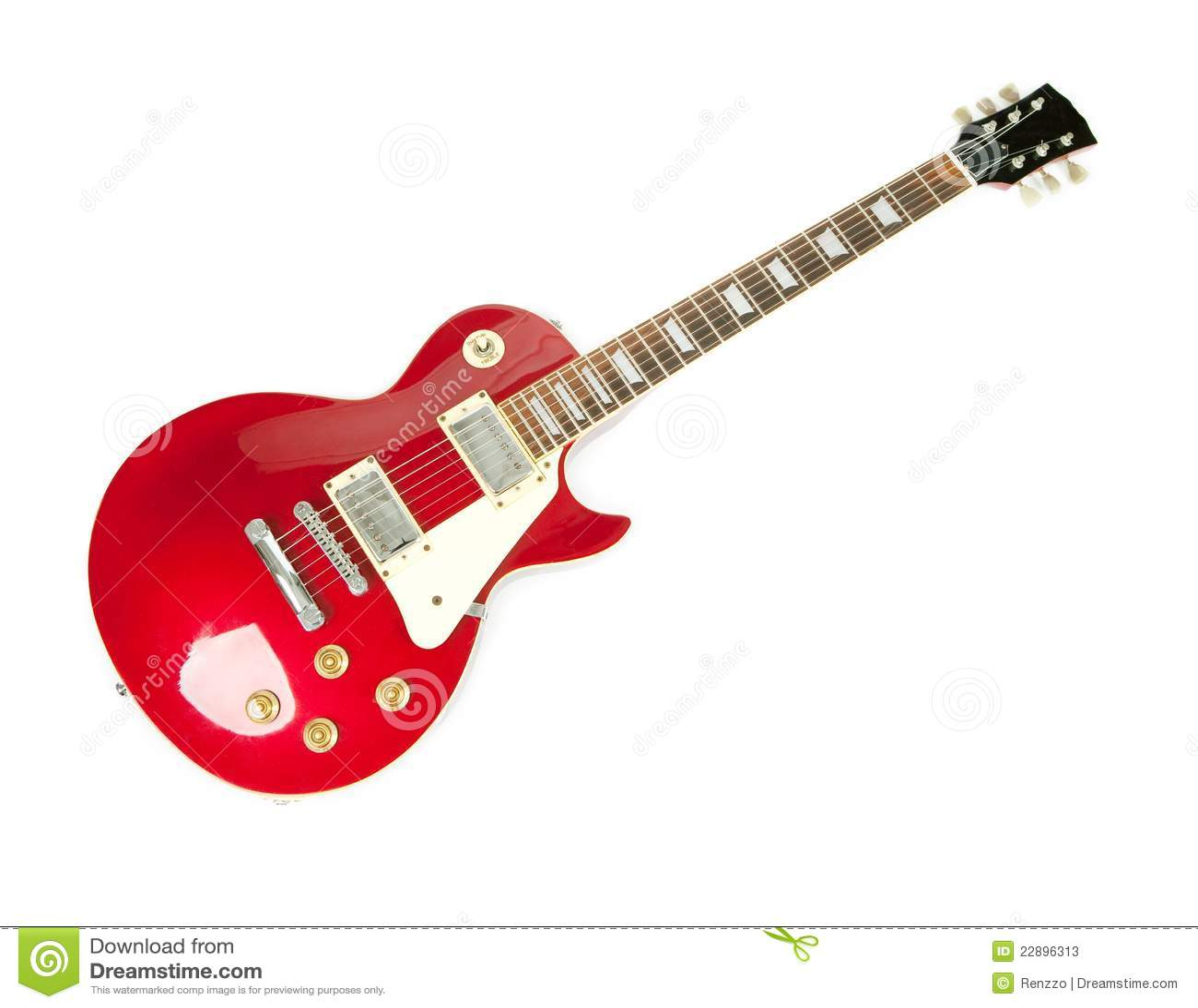 Amigurumi Guitarra Electrica : Guitarra Electrica Roja De La Carrocer?a Solida De La ...