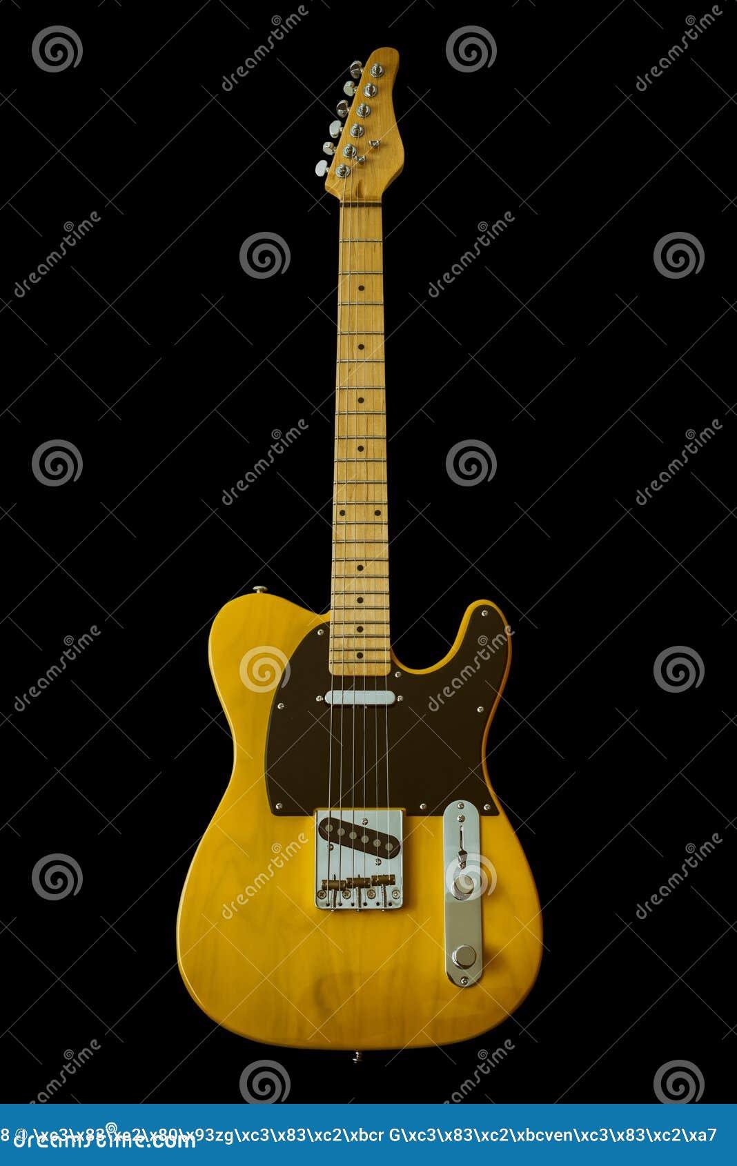 Guitarra el?ctrica amarilla del vintage