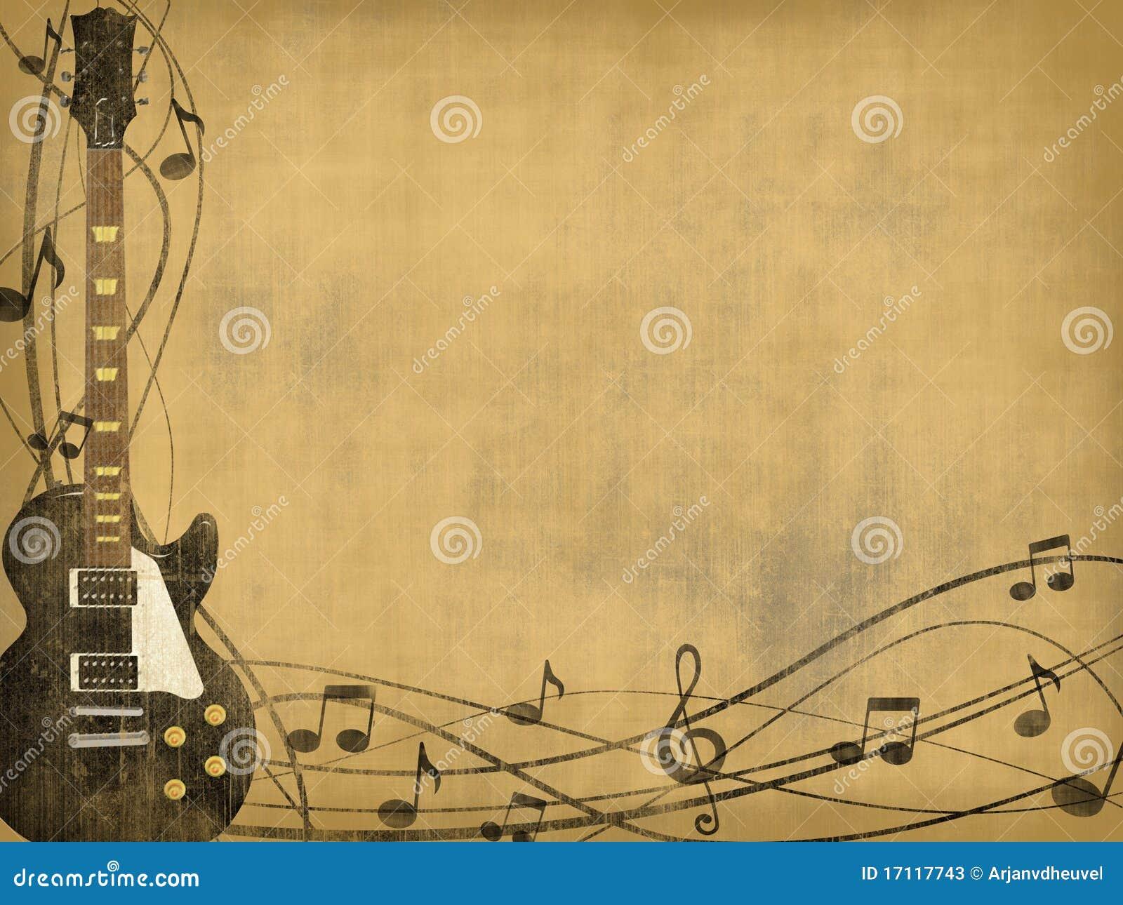 Guitarra no fundo do vintage