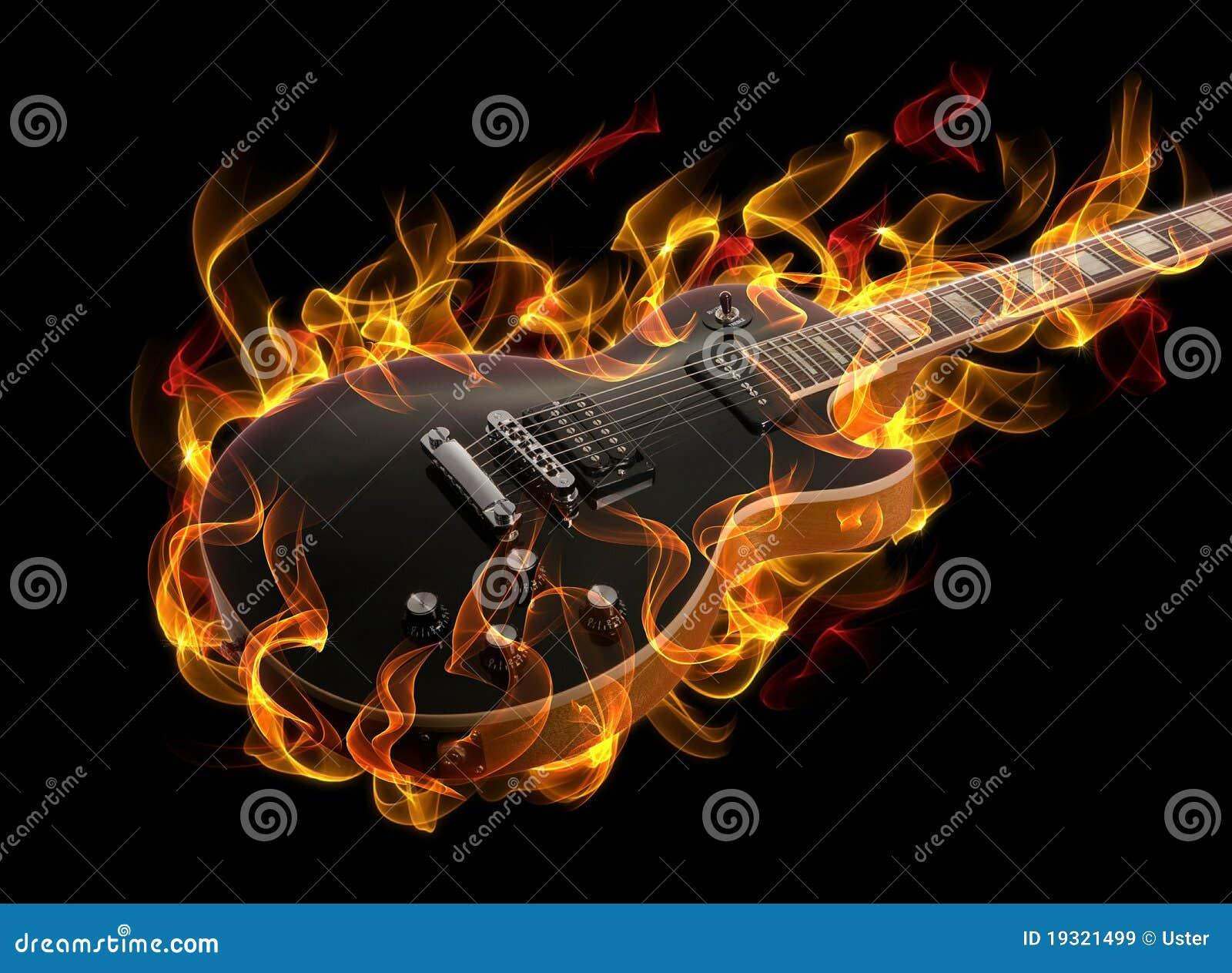 Guitarra no incêndio
