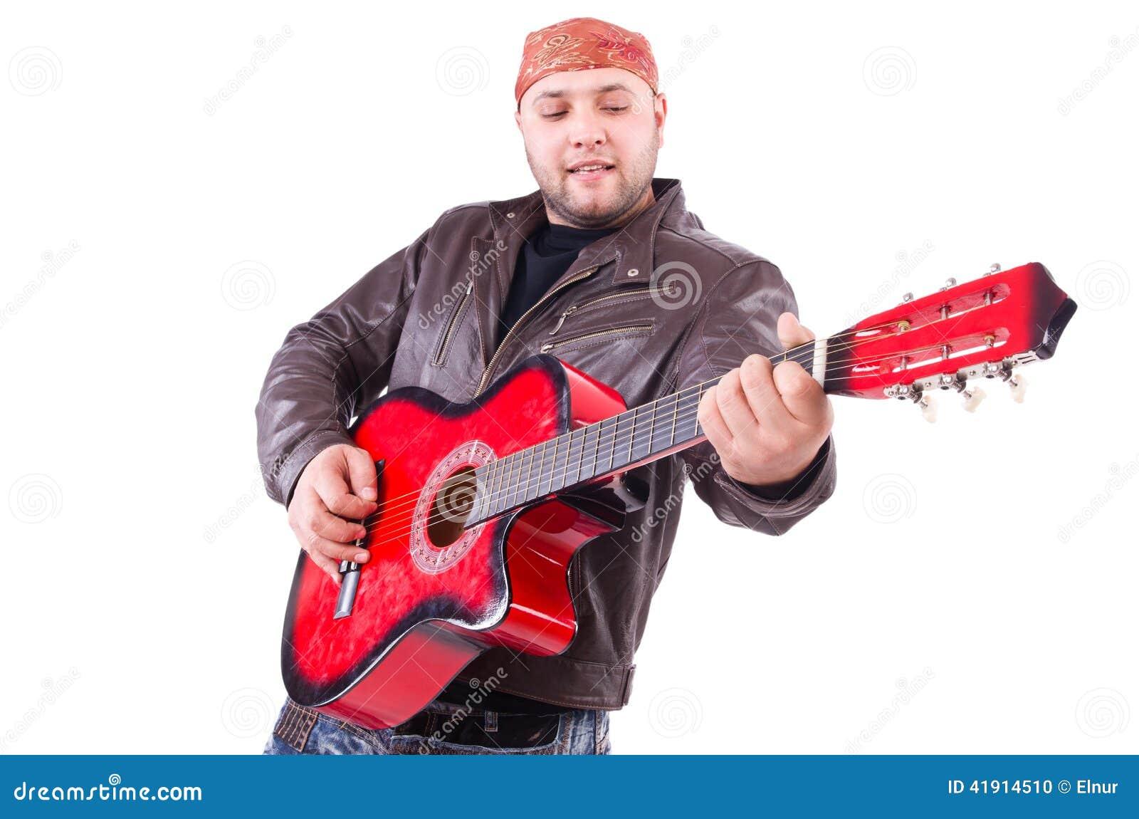 Guitarrista aislado