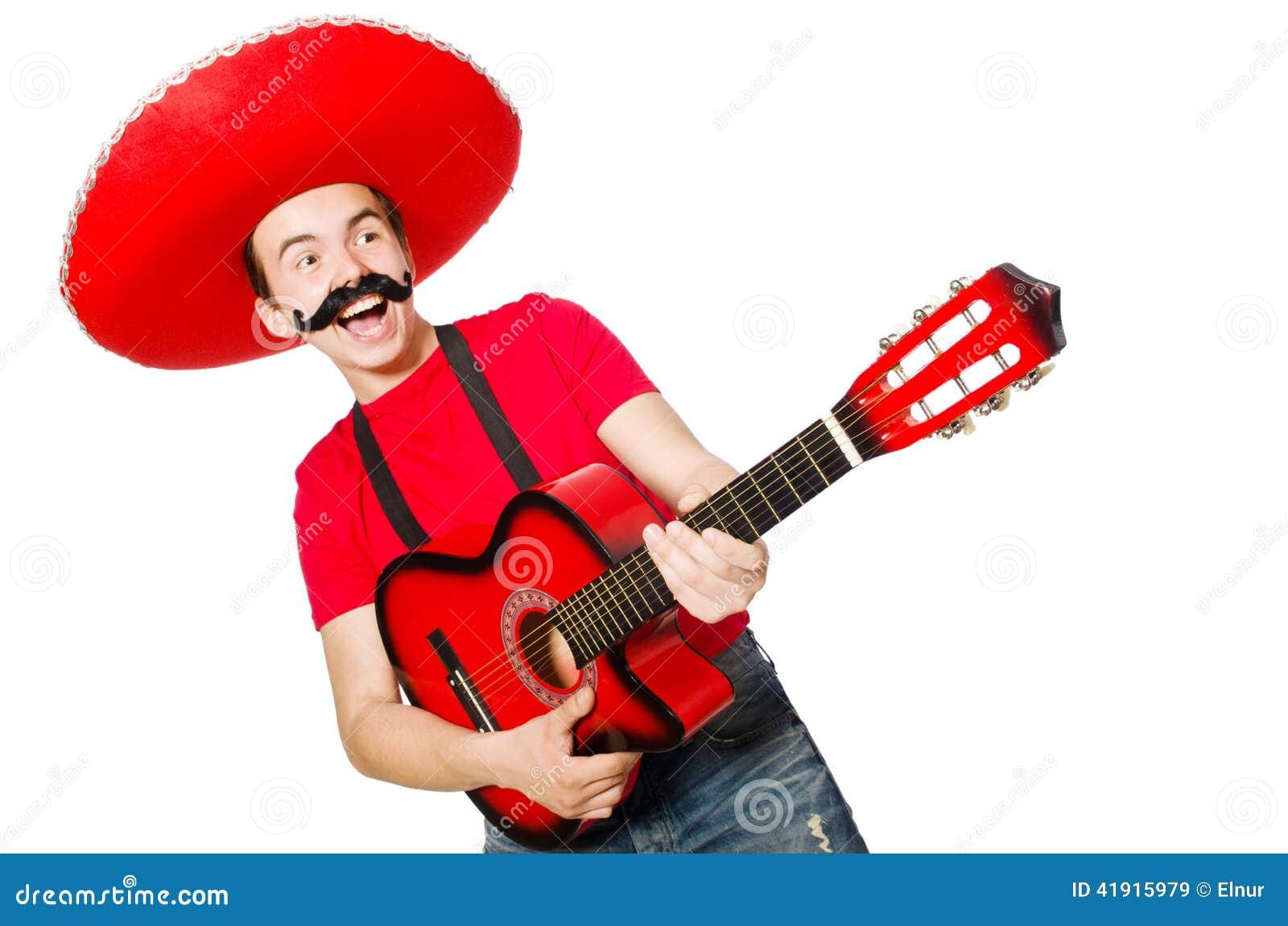 Guitarrista mexicano aislado