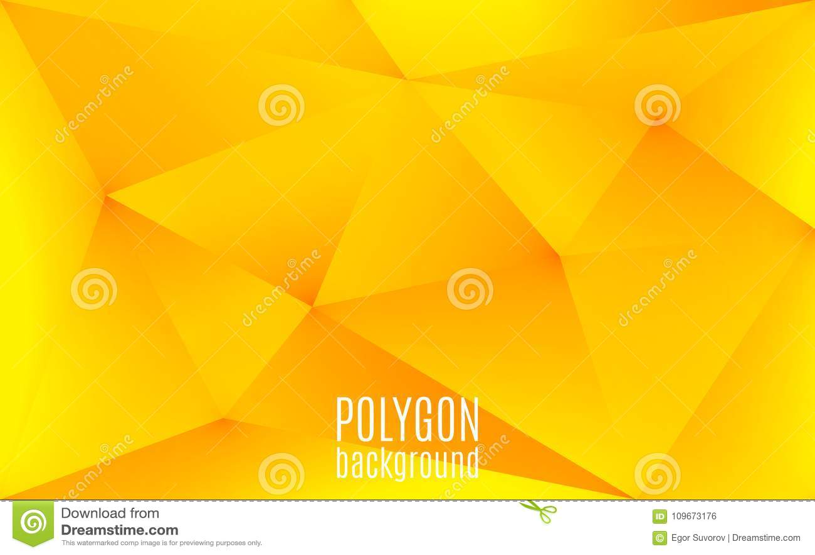 Gul abstrakt geometrisk bakgrund Polygonen formar bakgrunden Triangulär låg poly mosaik idérik designmall