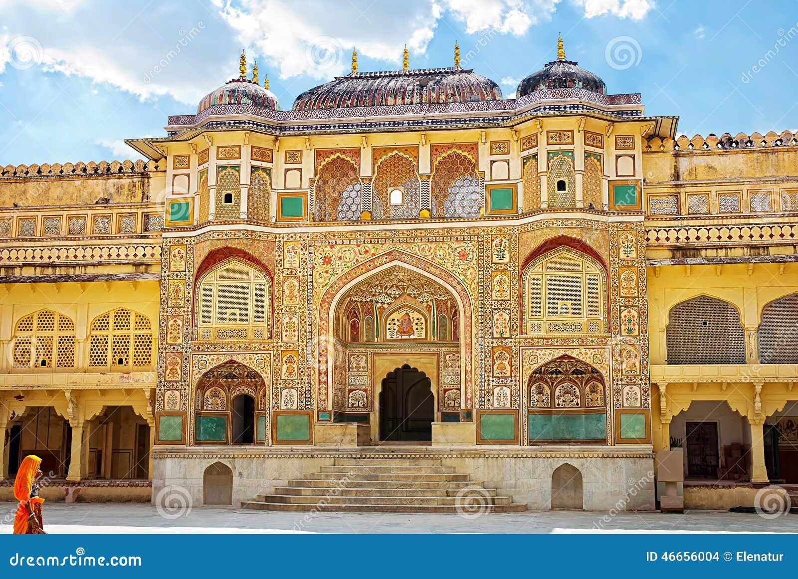 Gul dekorerad detaljfortnyckel india jaipur gul fort india jaipur