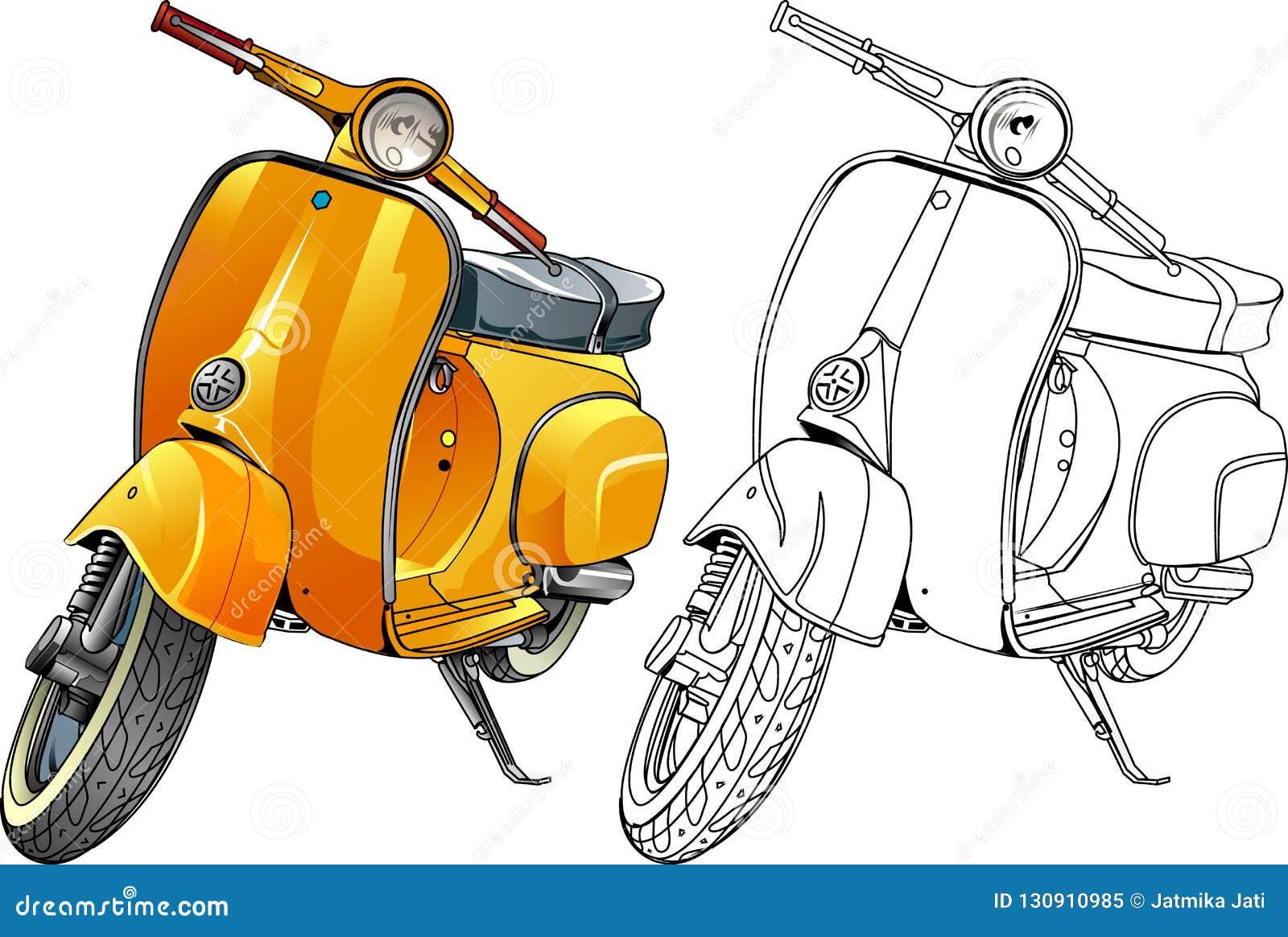 Gul sparkcykel