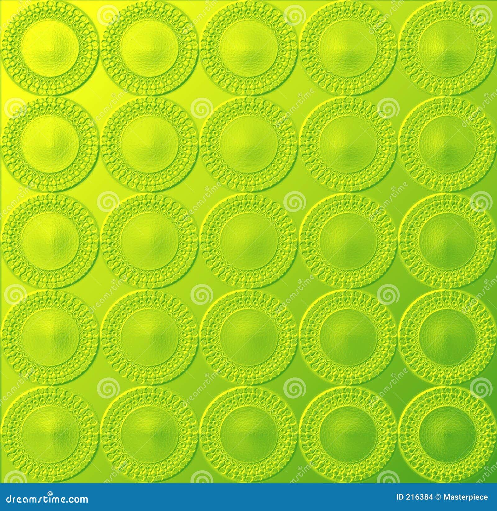 Gulaktig glödande grön modell för circular