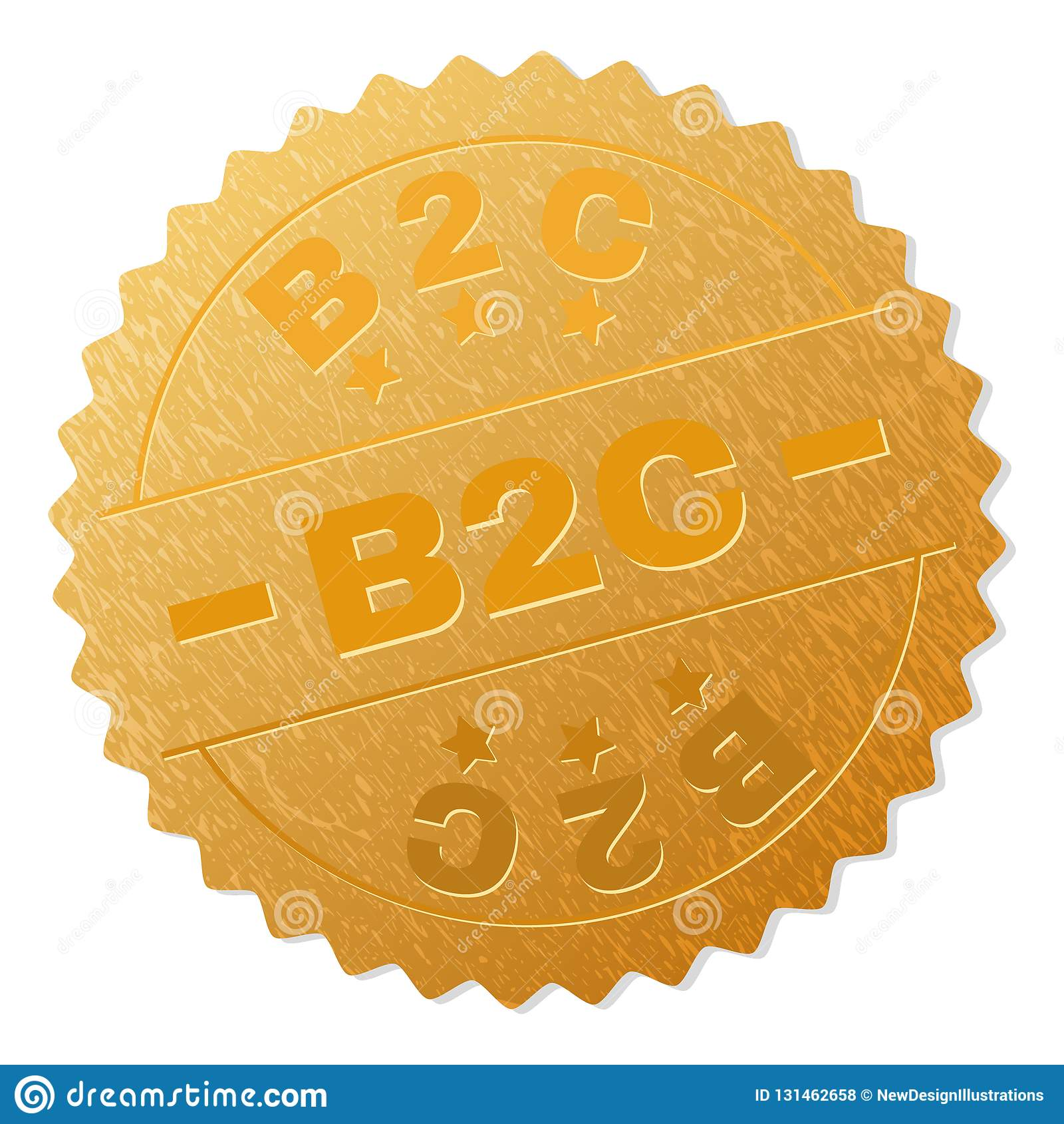 Guld- B2C emblemstämpel