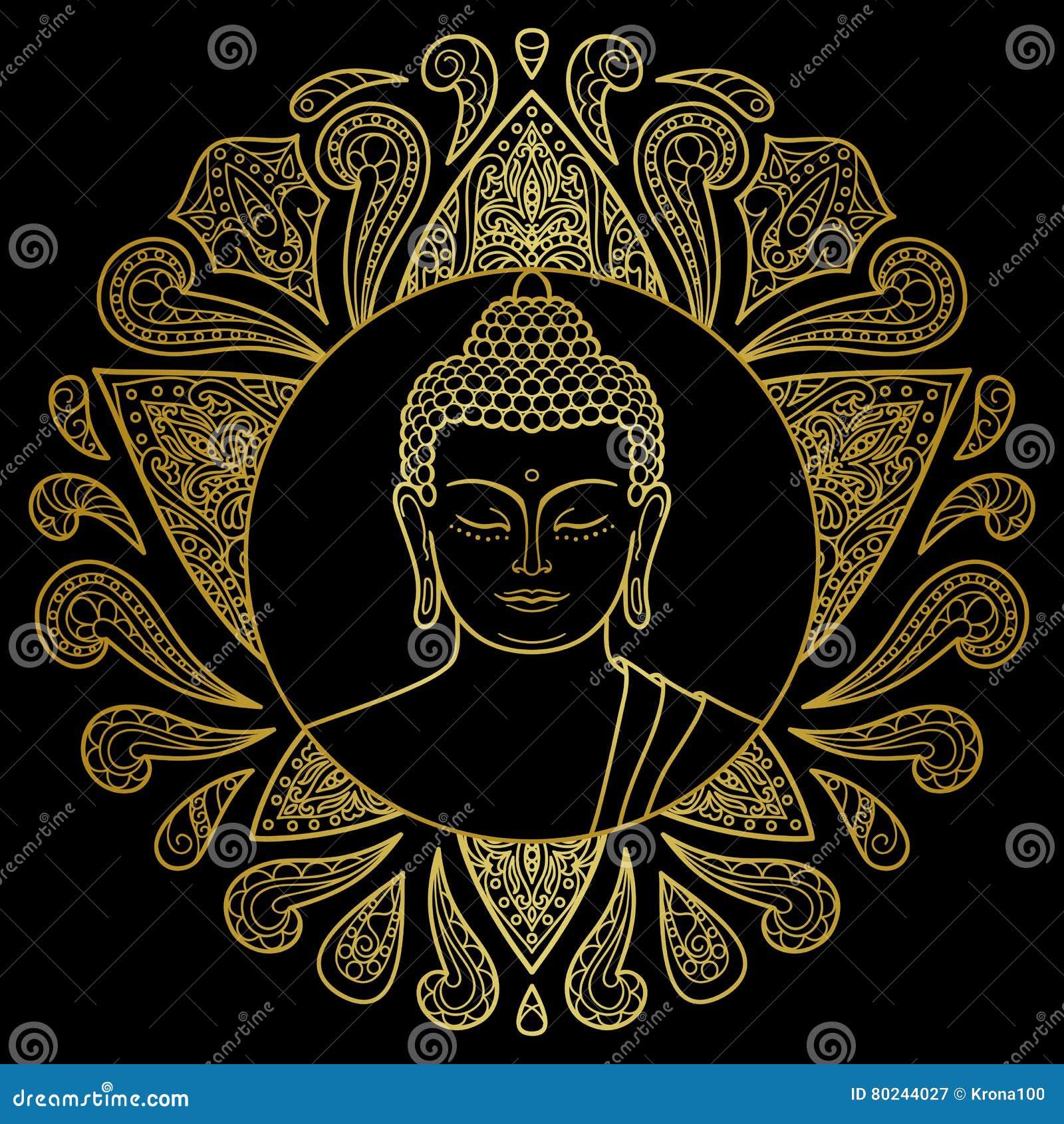 Guld- Buddha med Lotus