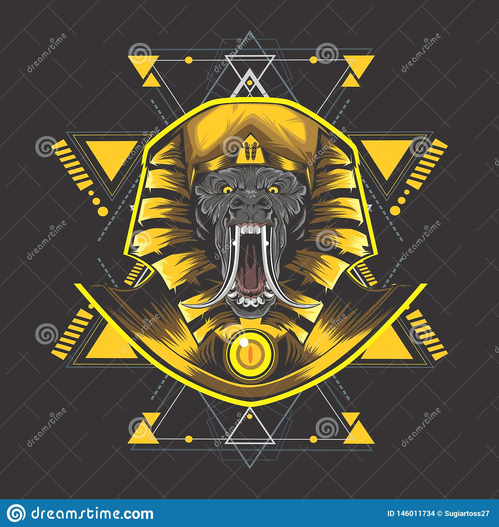 Guld- Egypten kong