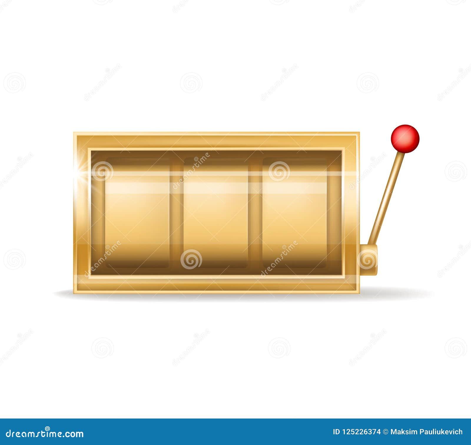 Guld- enarmad bandit för vektor, utrustning för dobblerikasino
