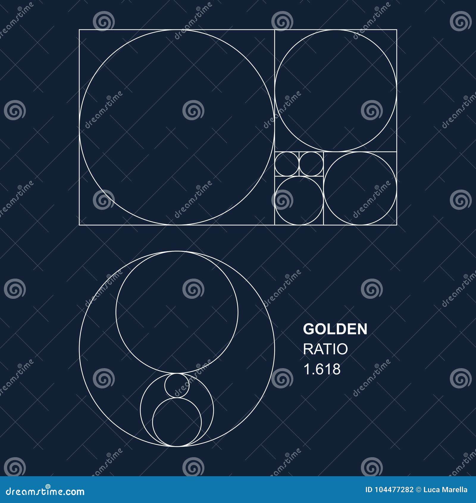 Guld- förhållandevektorbeståndsdelar för formgivare