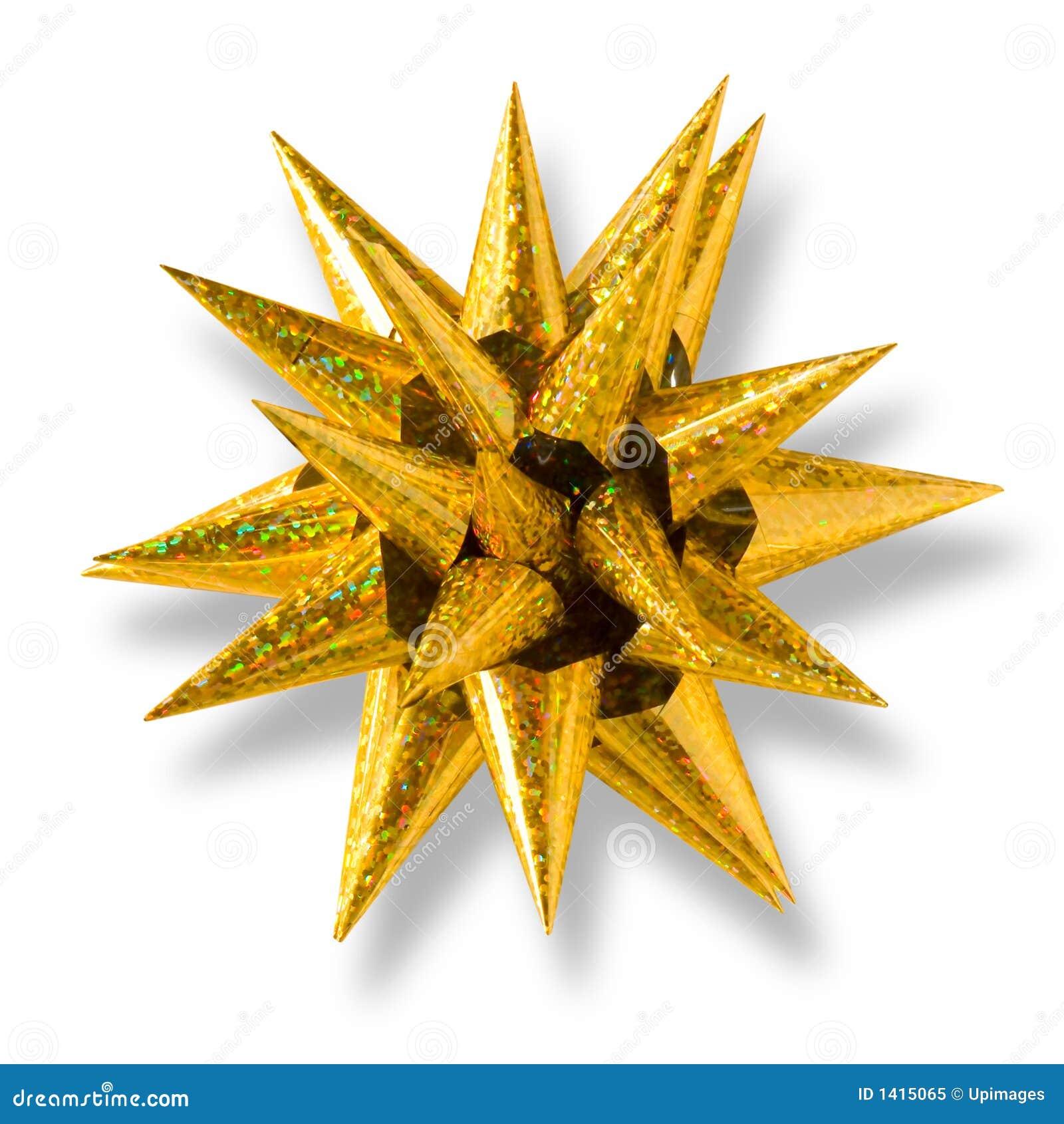 Guld- formad stjärna för bow