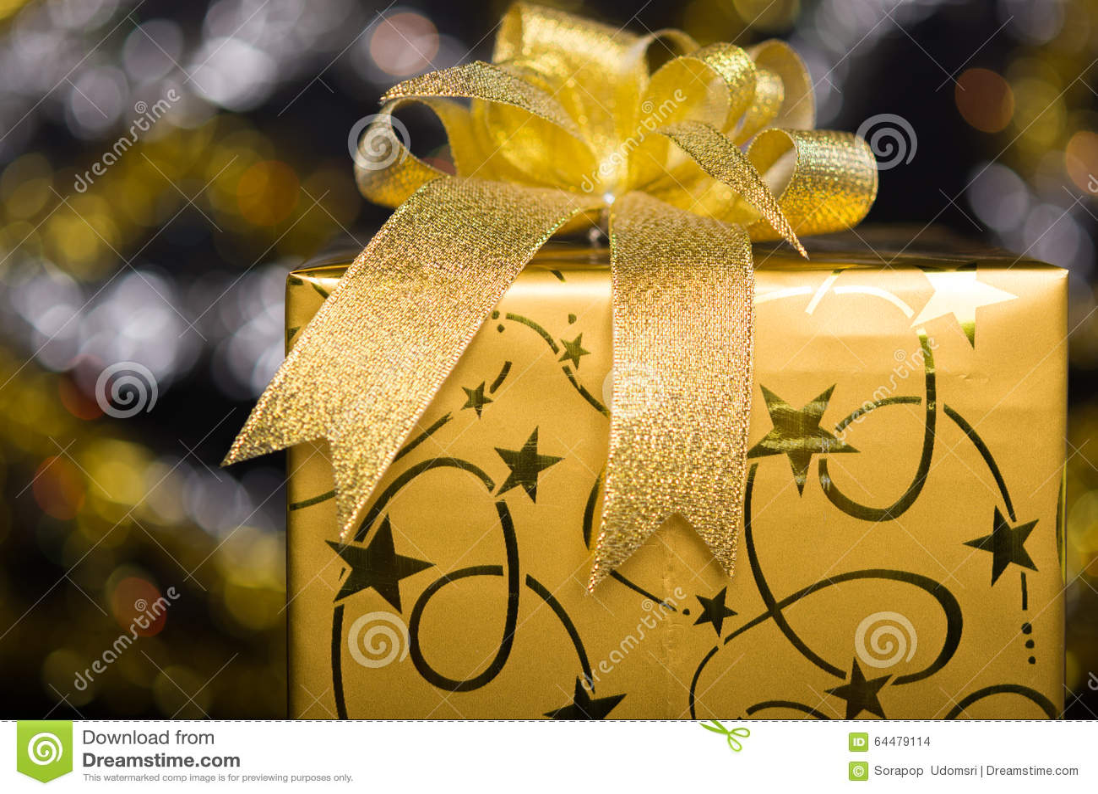 Guld- gåvaask med bowen