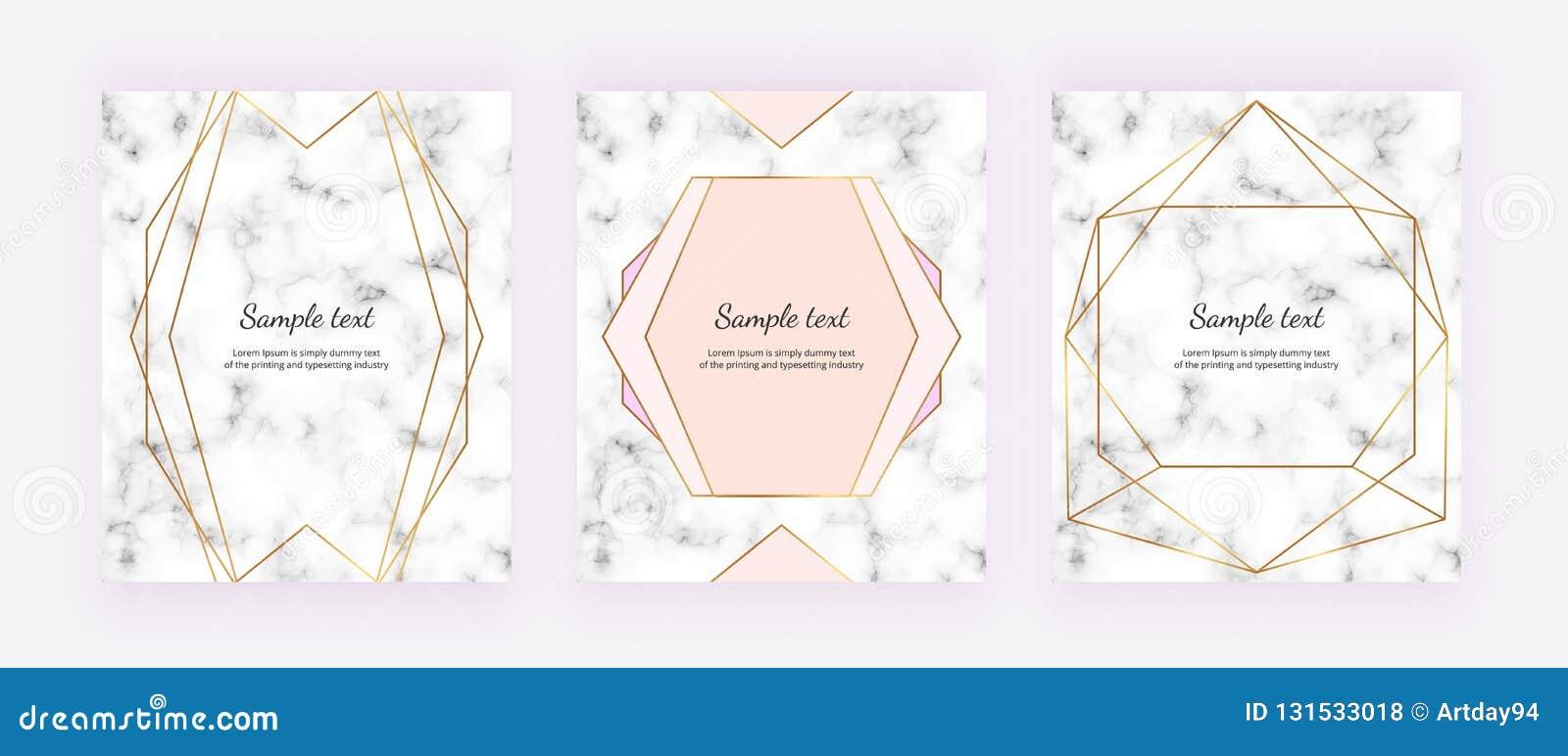Guld- geometriska linjer på viten marmorerar textur Minimalist design Modern bakgrund för inbjudan, kort, baner, bröllop, lodisar
