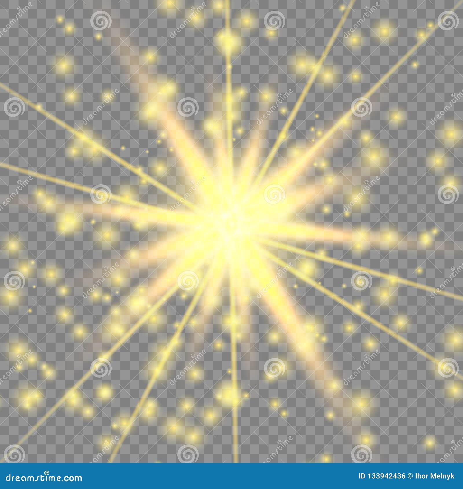 Guld- glödande ljus effekt
