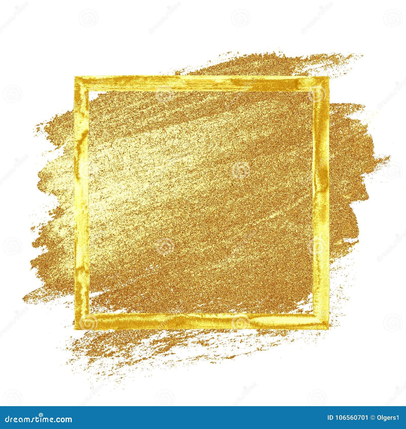 Guld- grungeram