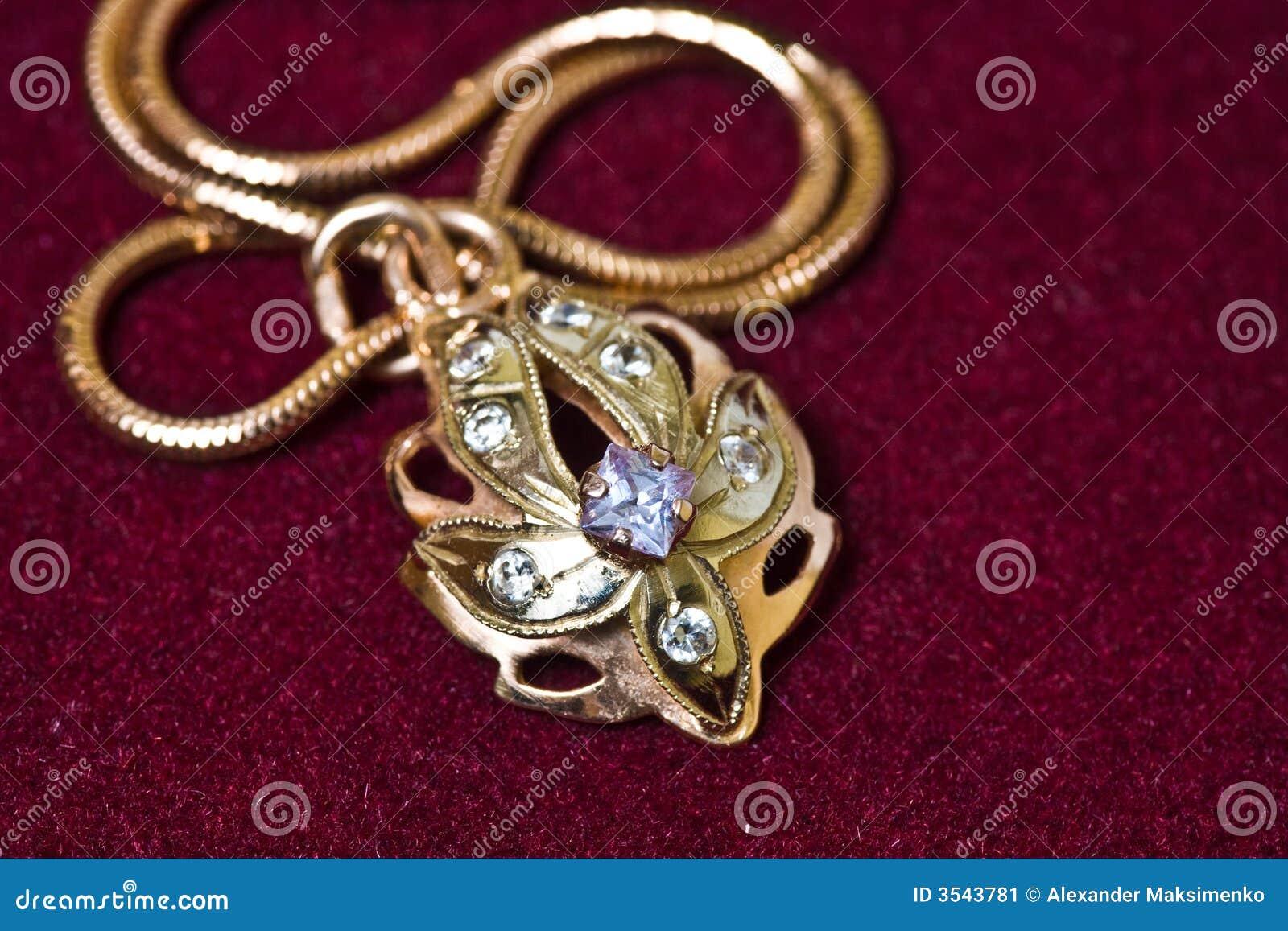 Guld- hänge