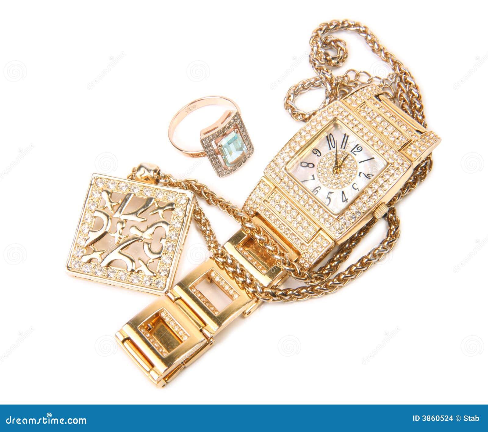 Guld- halsbandcirkelwatch