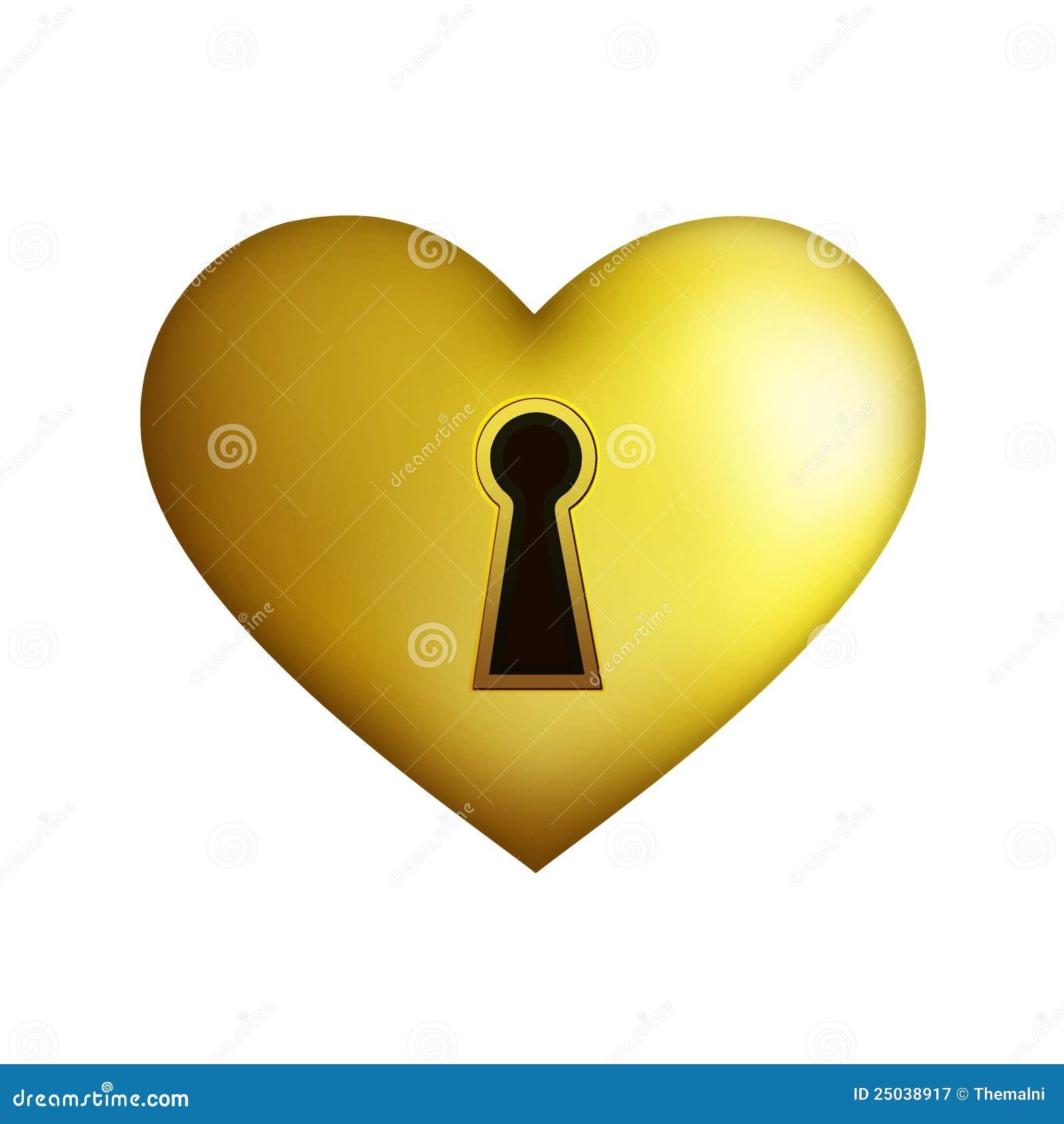 Guld- hjärtahåltangent