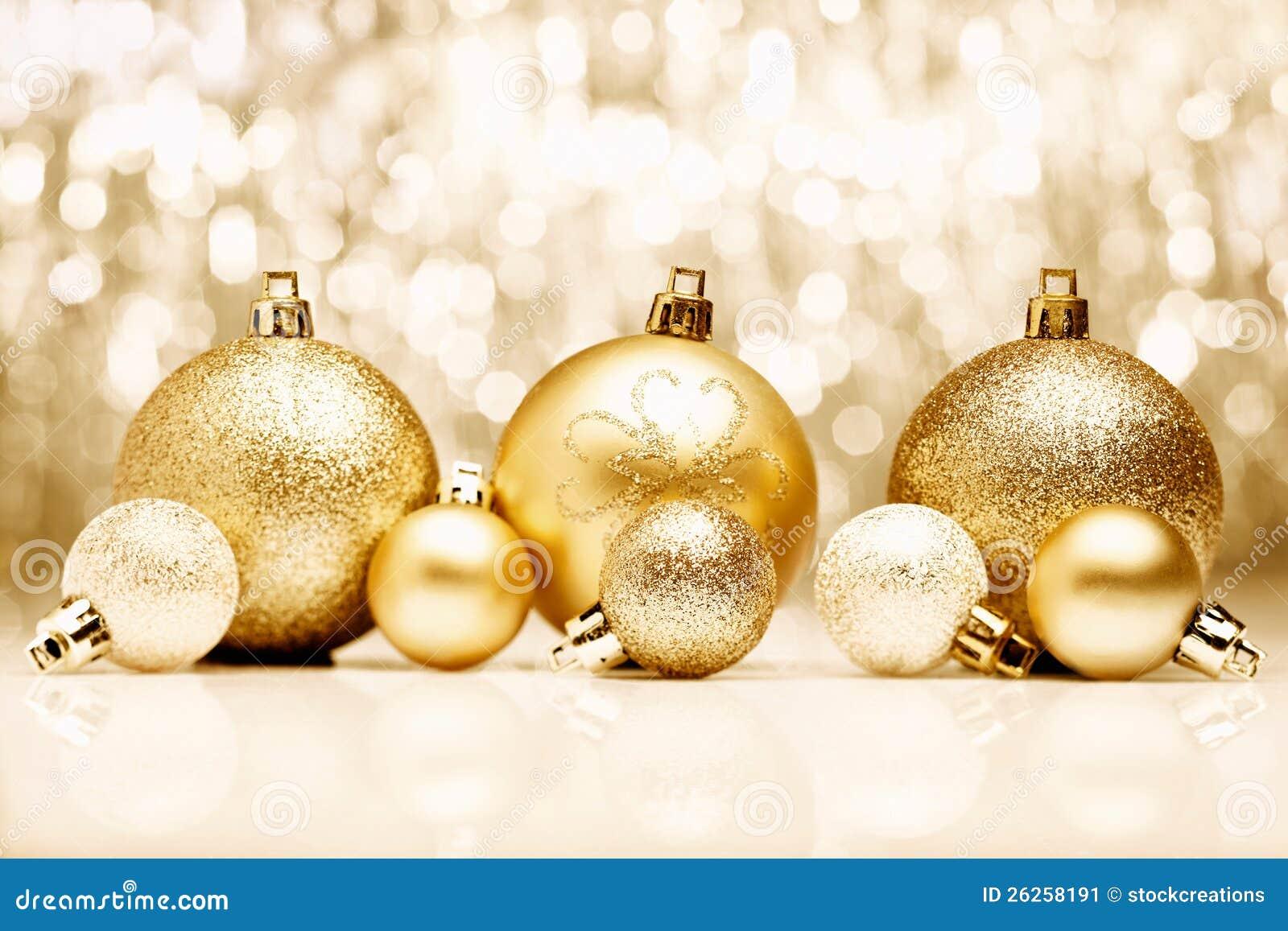 Guld- julbaubles