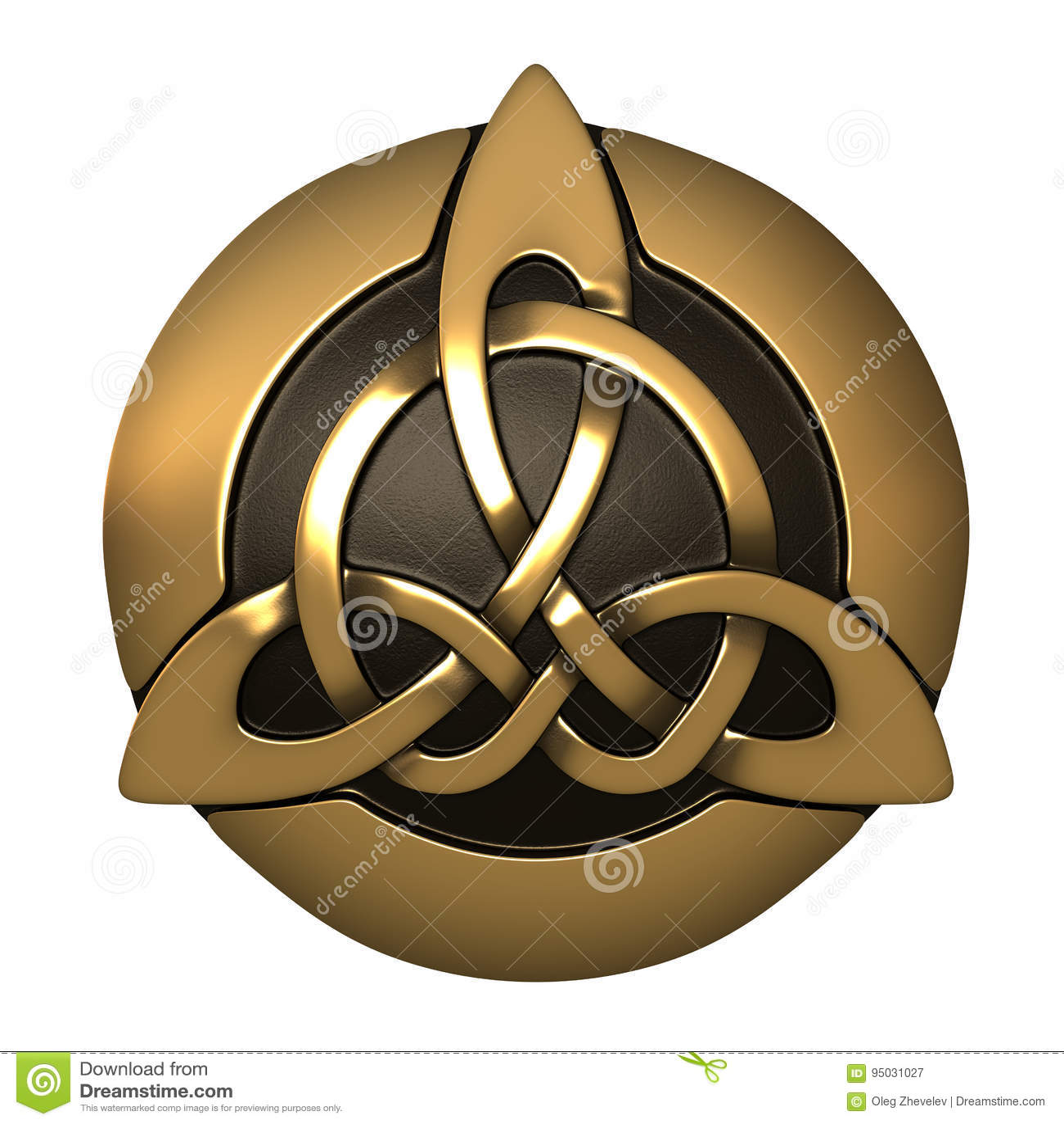 Guld- keltisk prydnad