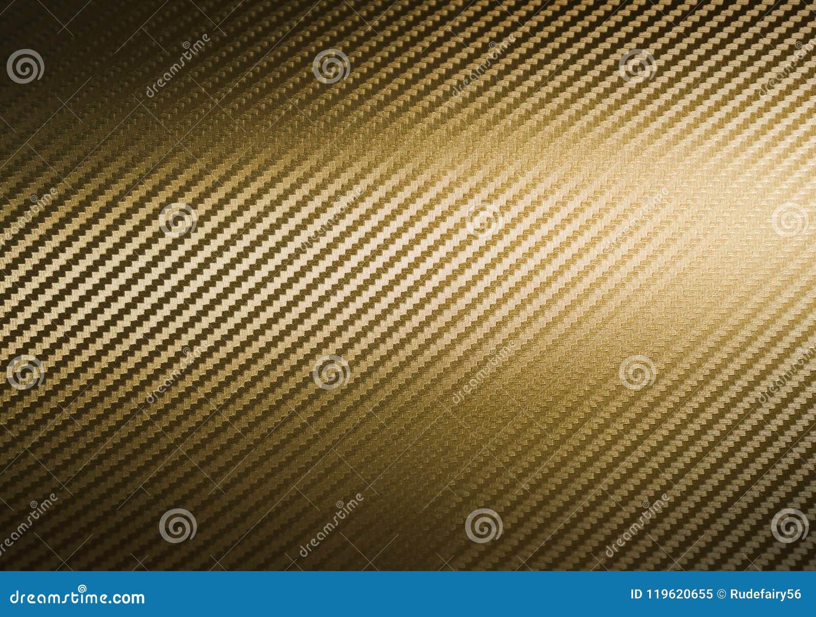 Guld- kolfibertextur