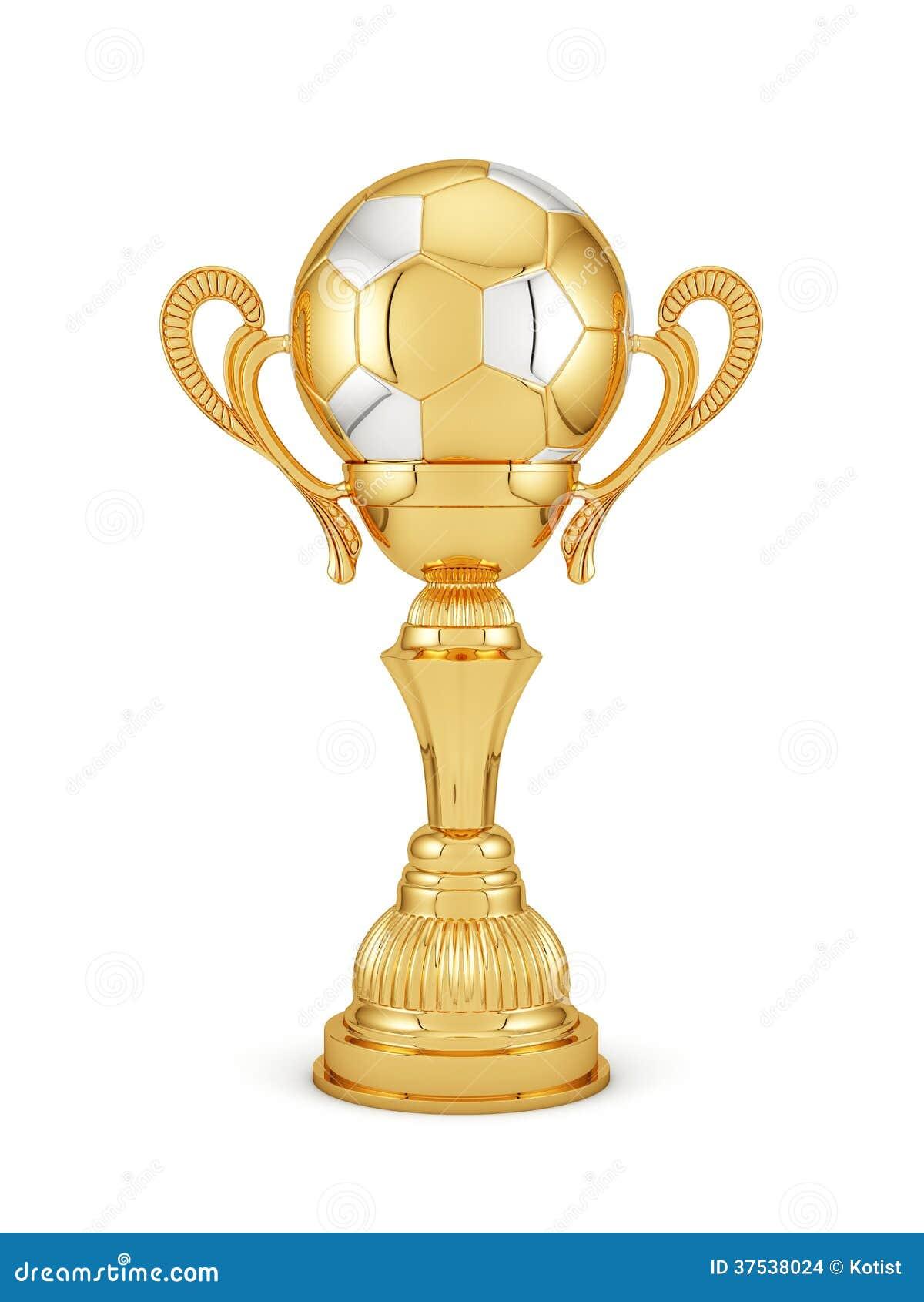 Guld- kopp för fotboll