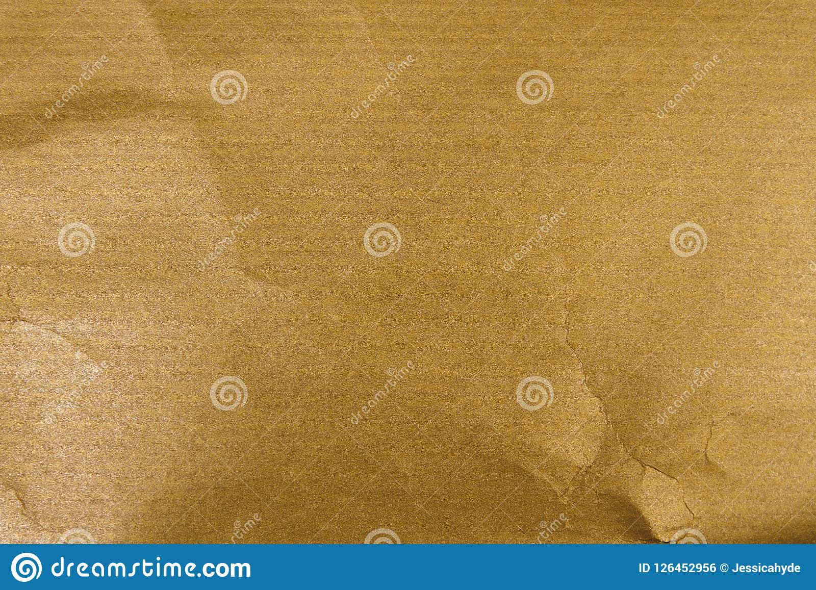 Guld- kraft papper