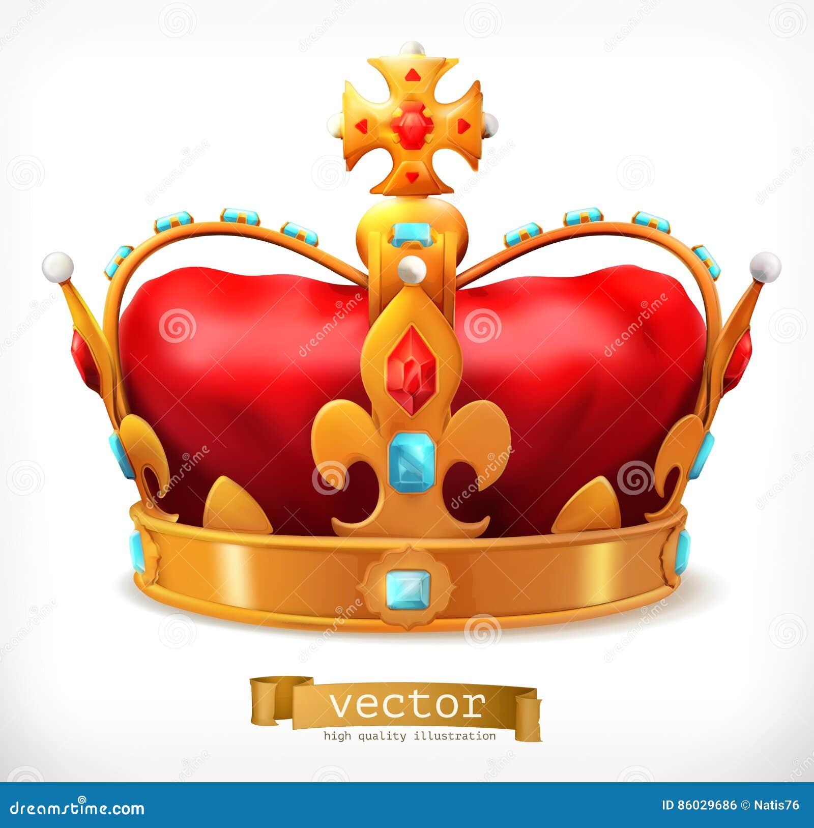 Guld- krona av konungen gears symbolen