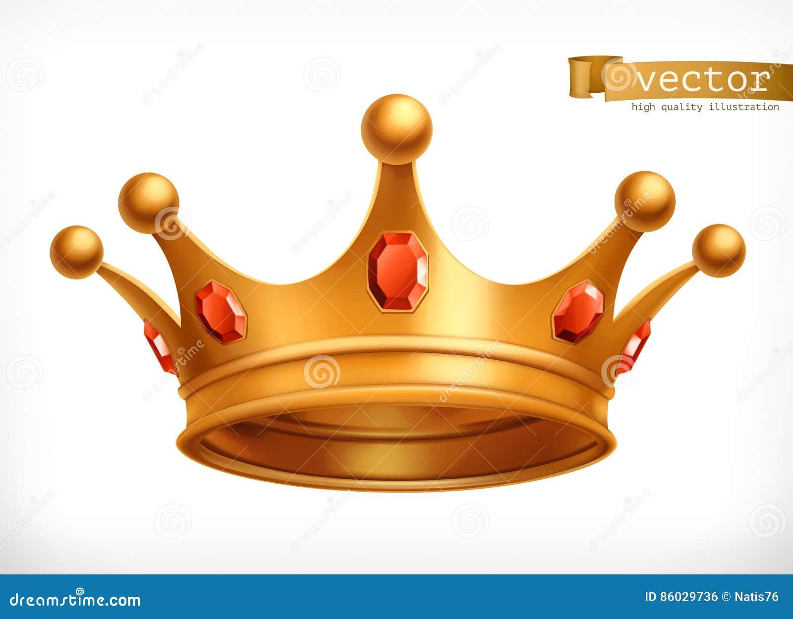 Guld- krona av konungvektorsymbolen