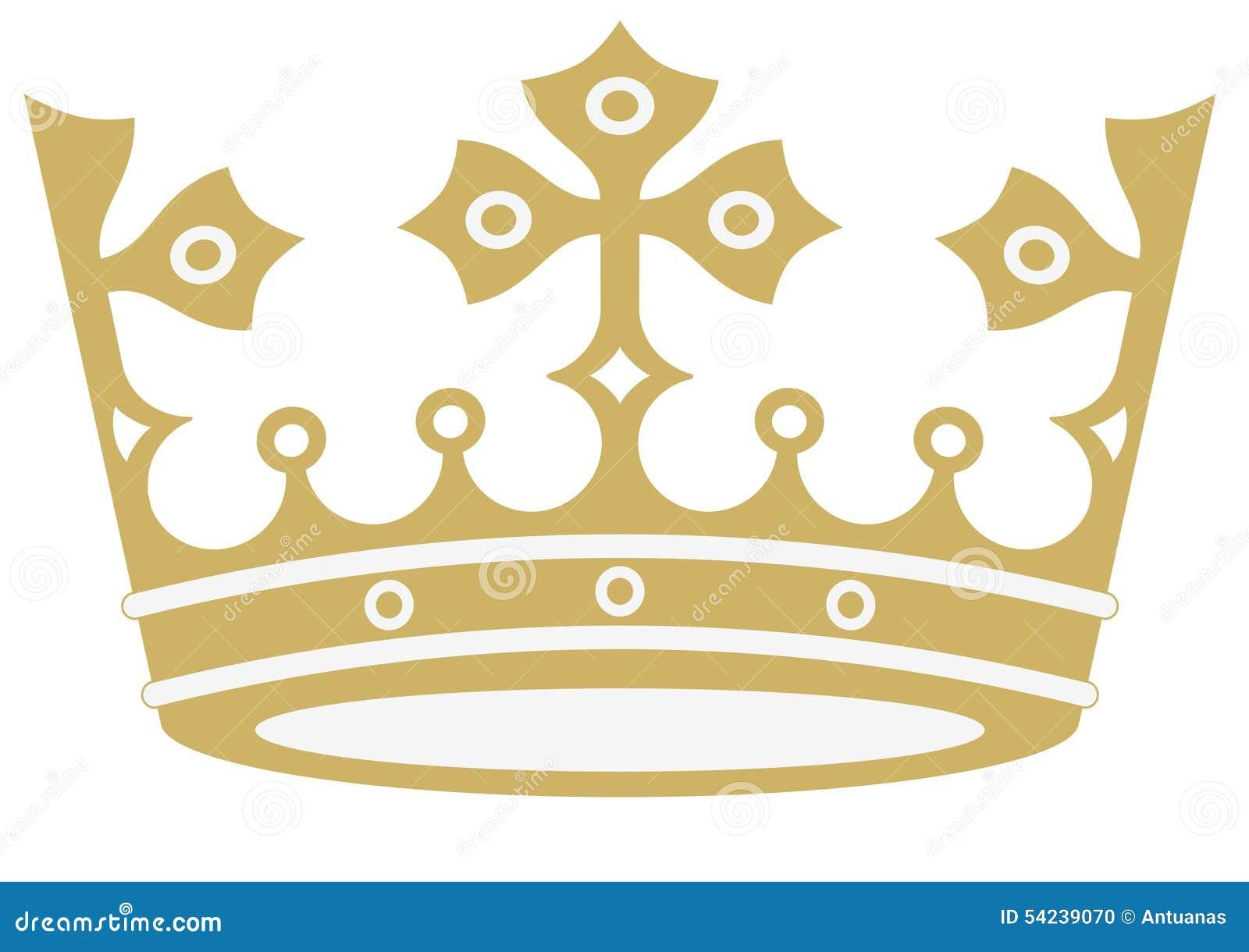 Guld- krona i vektorer