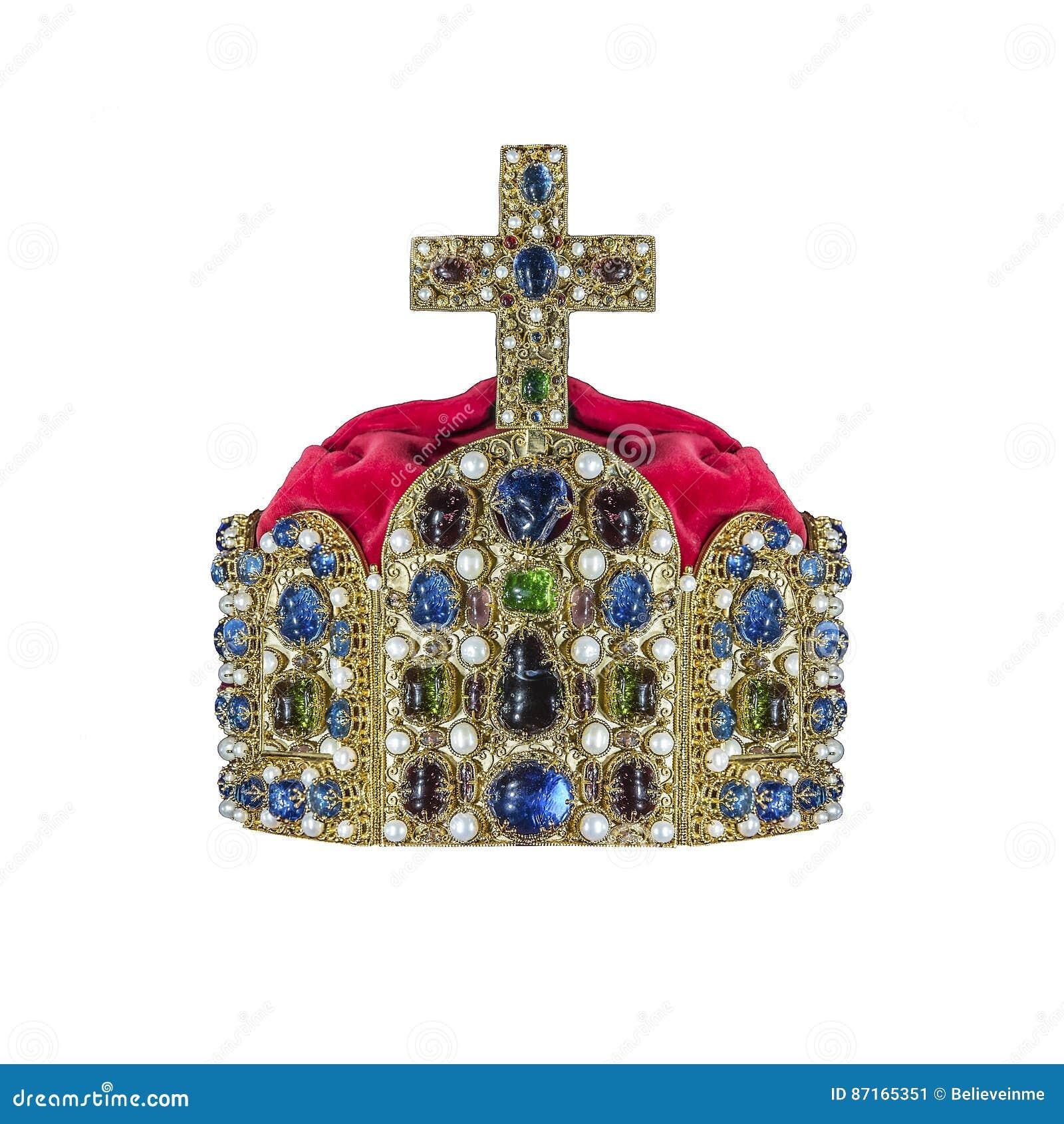 Guld- krona med juvlar