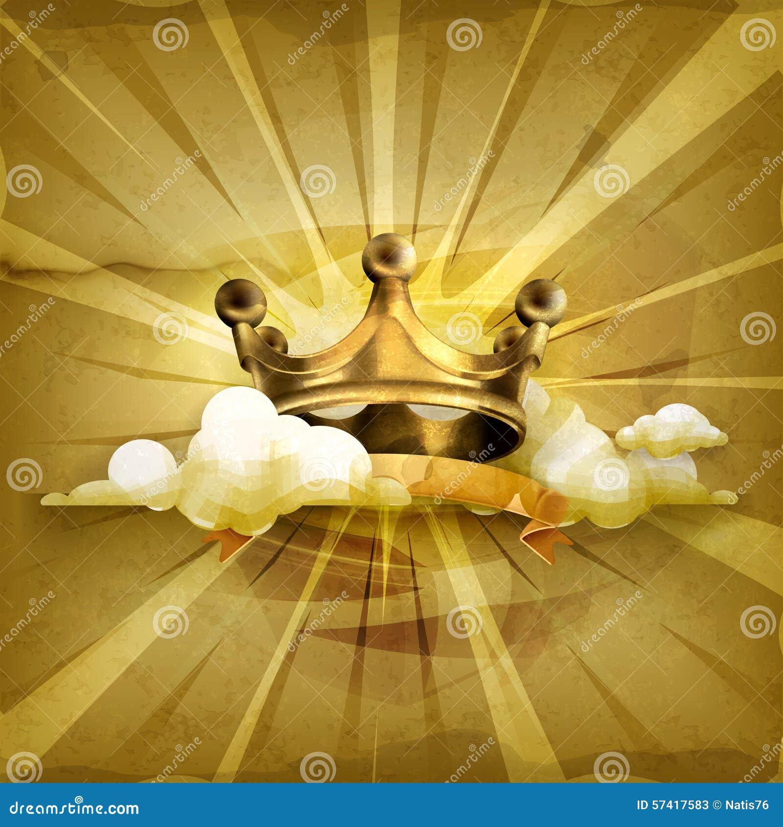 Guld- krona, vektorbakgrund