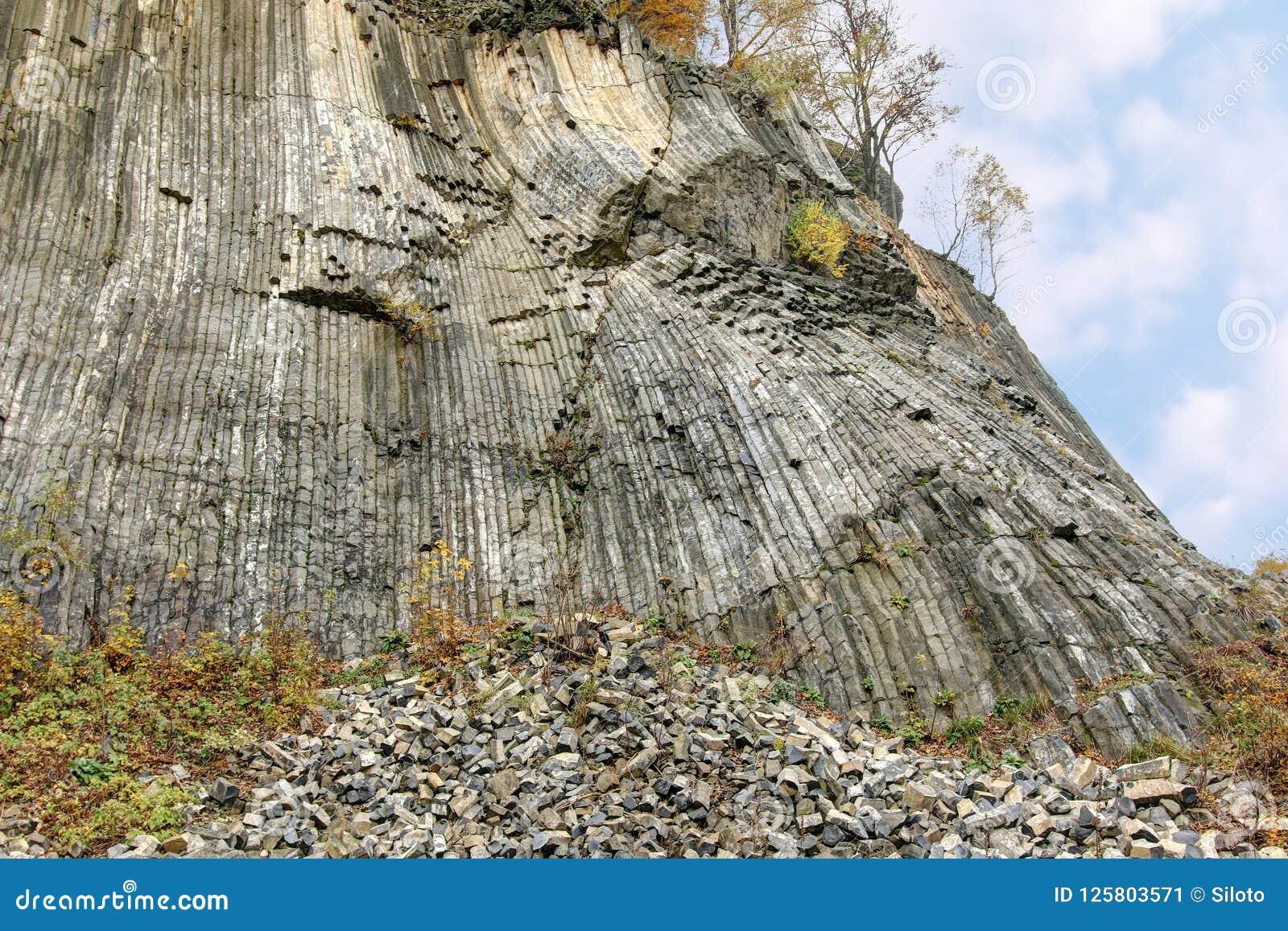 Guld- kulle - columnar fogad ihop volcanics - nationell naturlig monu