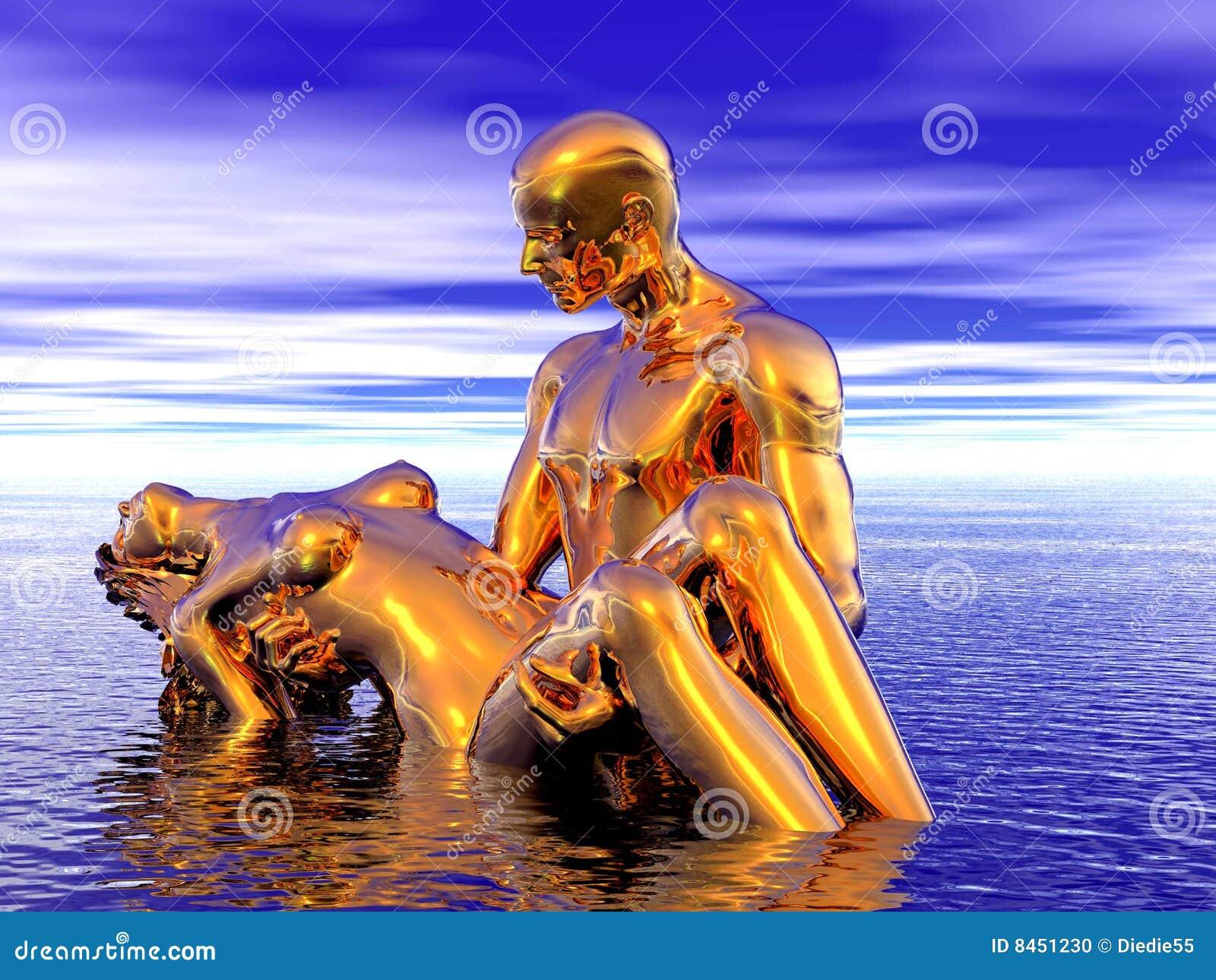Guld- mankvinna