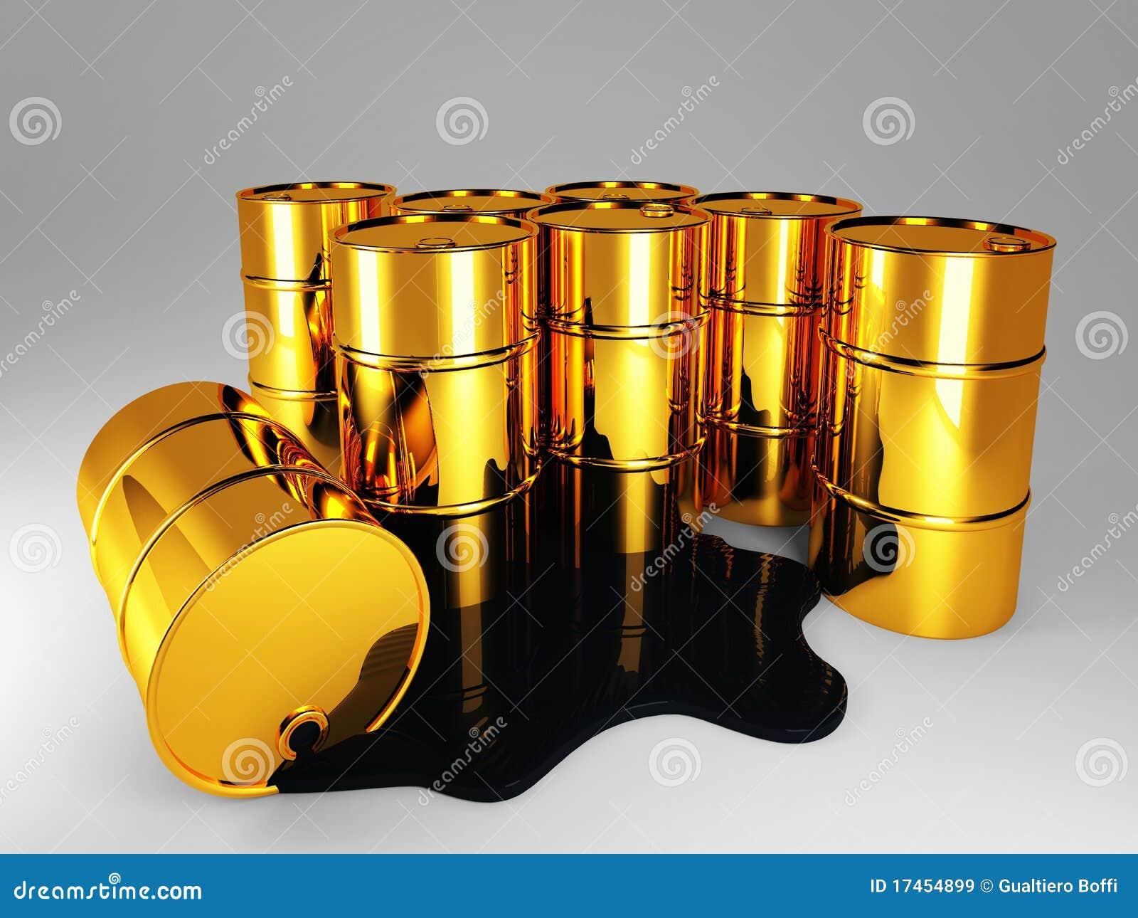 Guld- olja för trumma