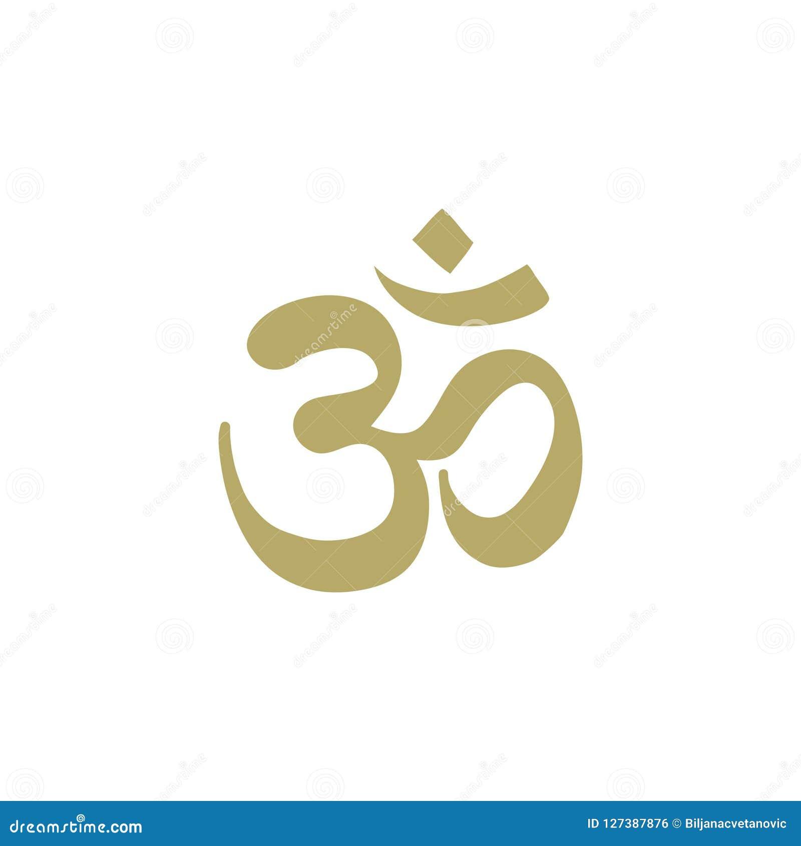 Guld- OM symbol