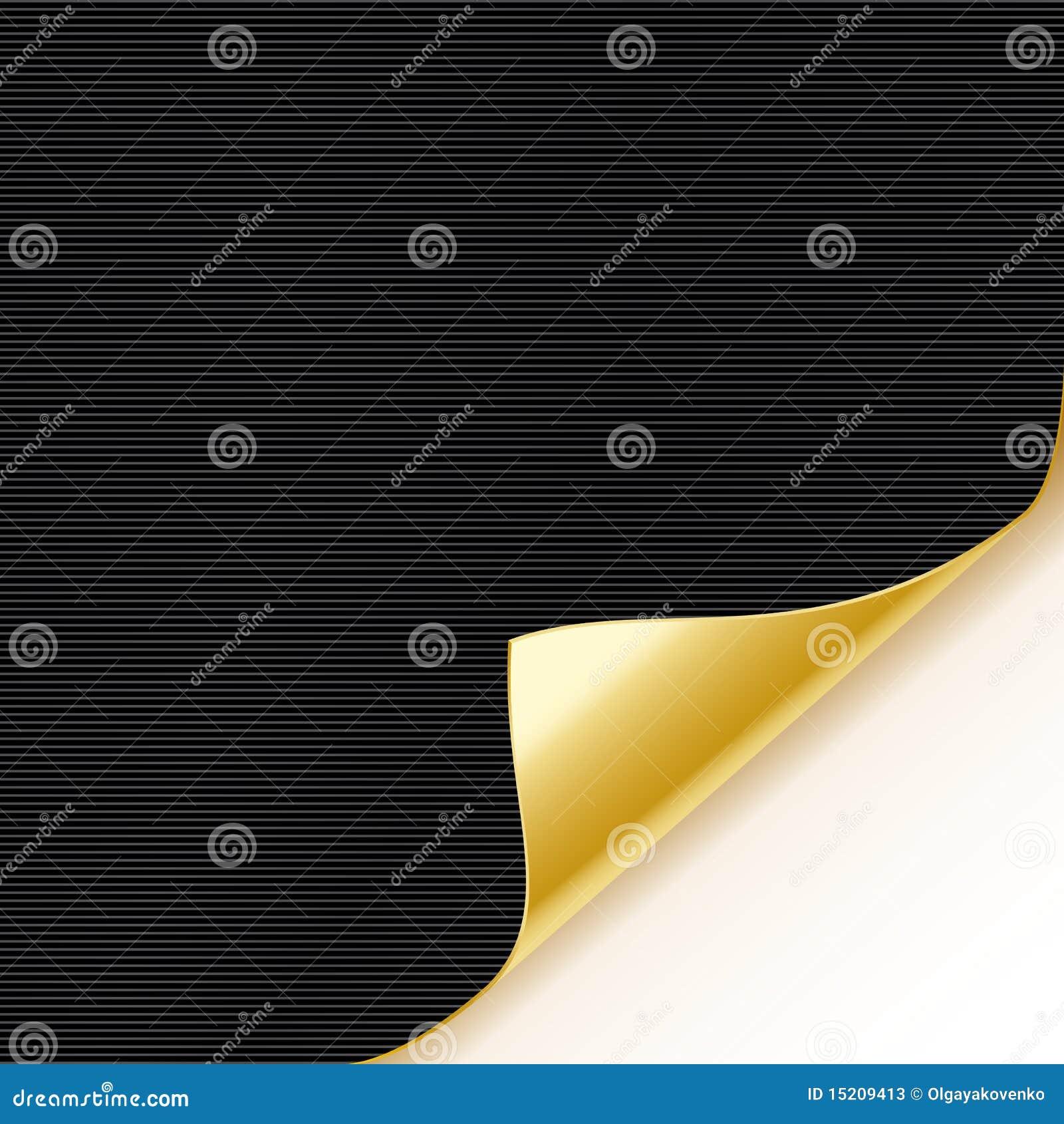 Guld- paper ark för svart krullning
