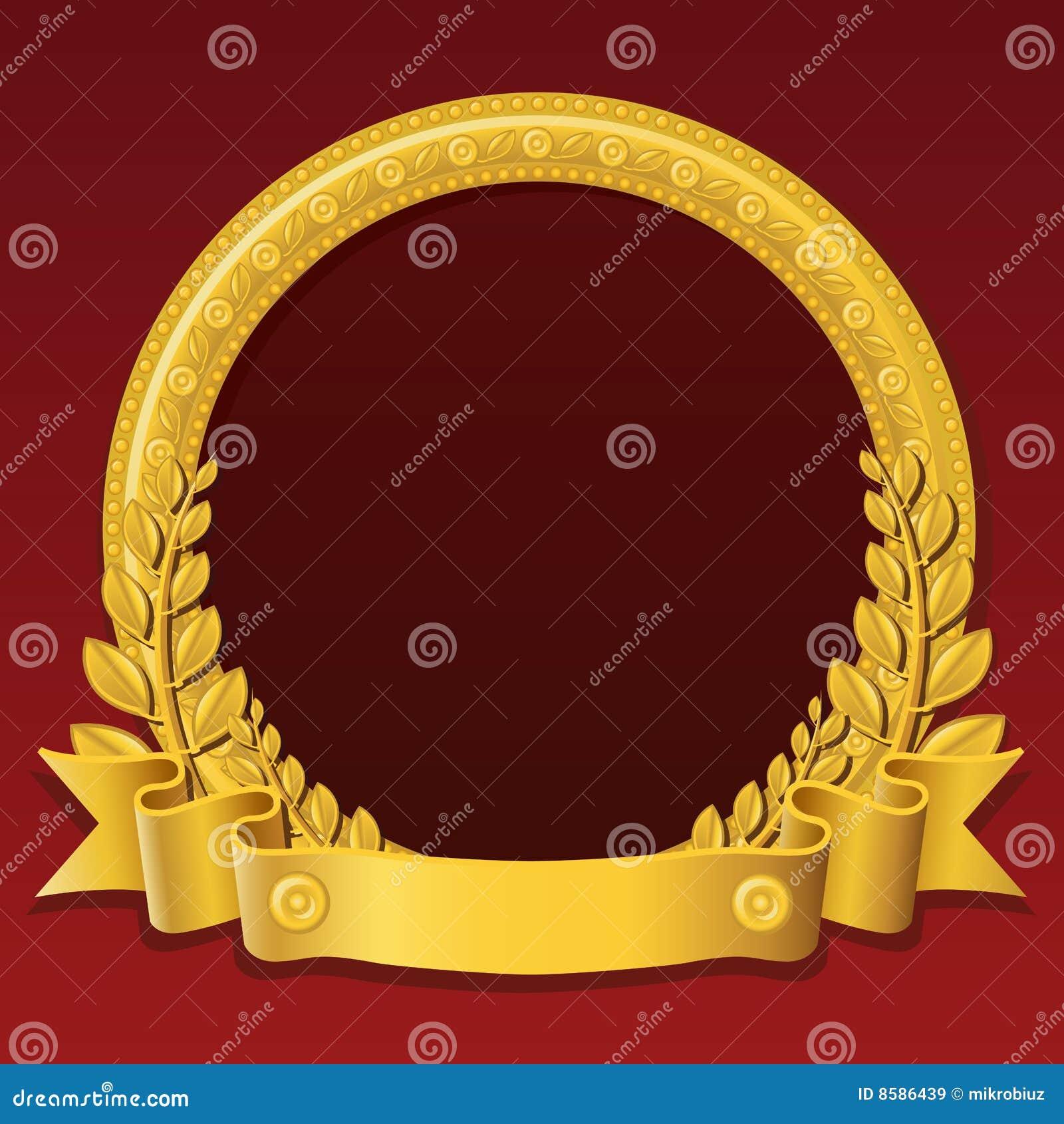 Guld- round för ram