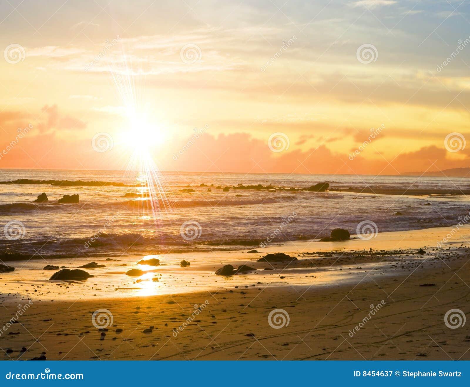 Guld- solnedgång