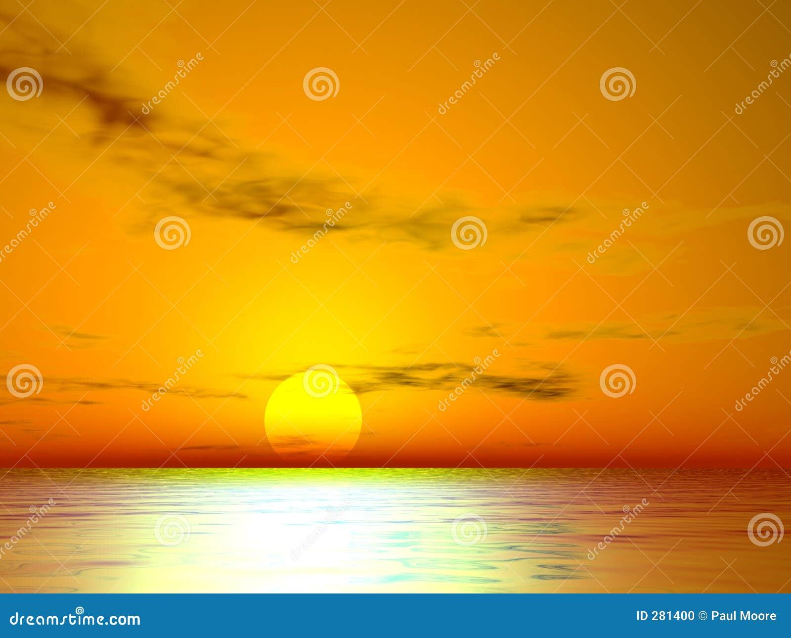 Guld- solnedgång för el