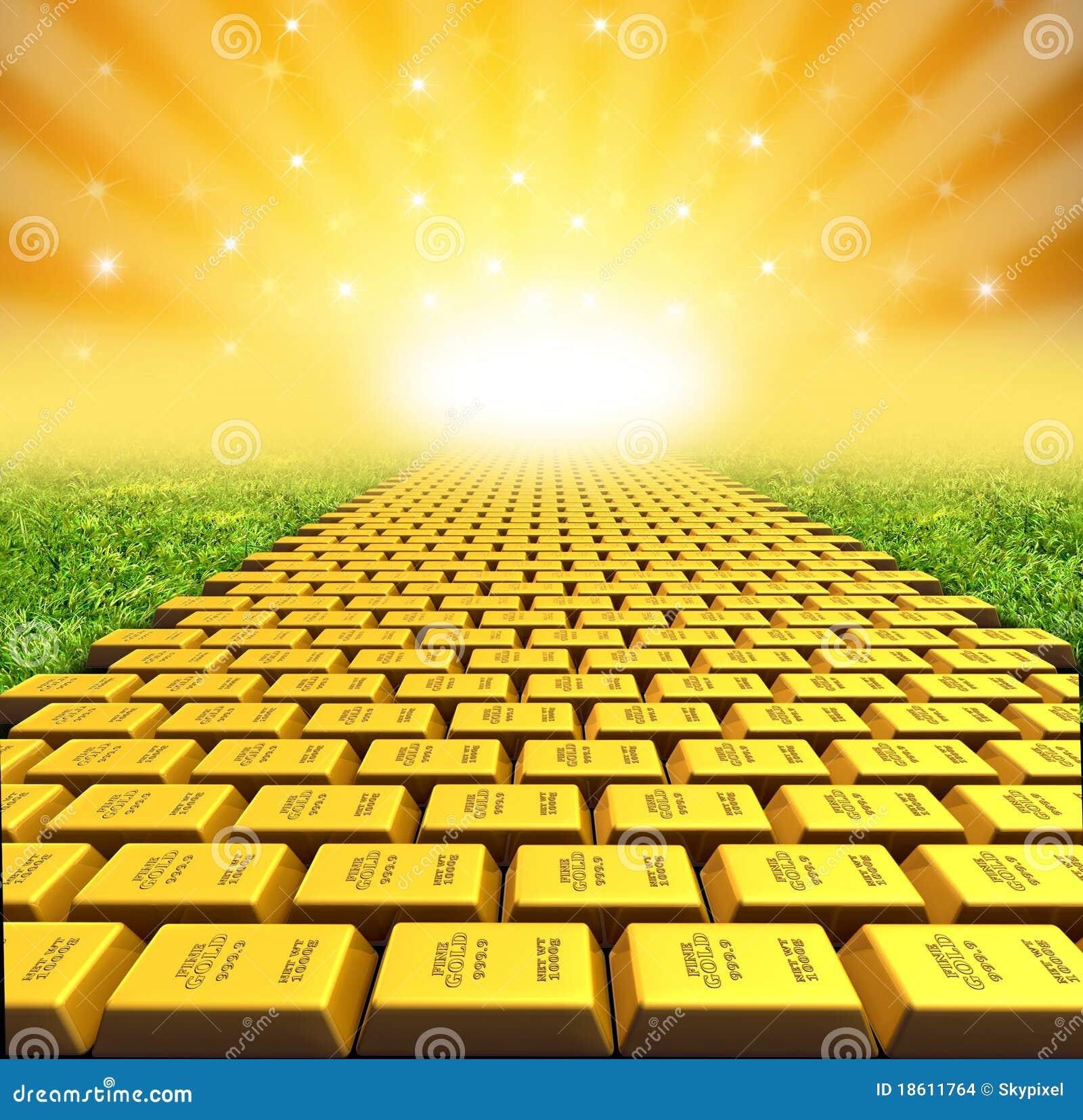 Guld stenlade