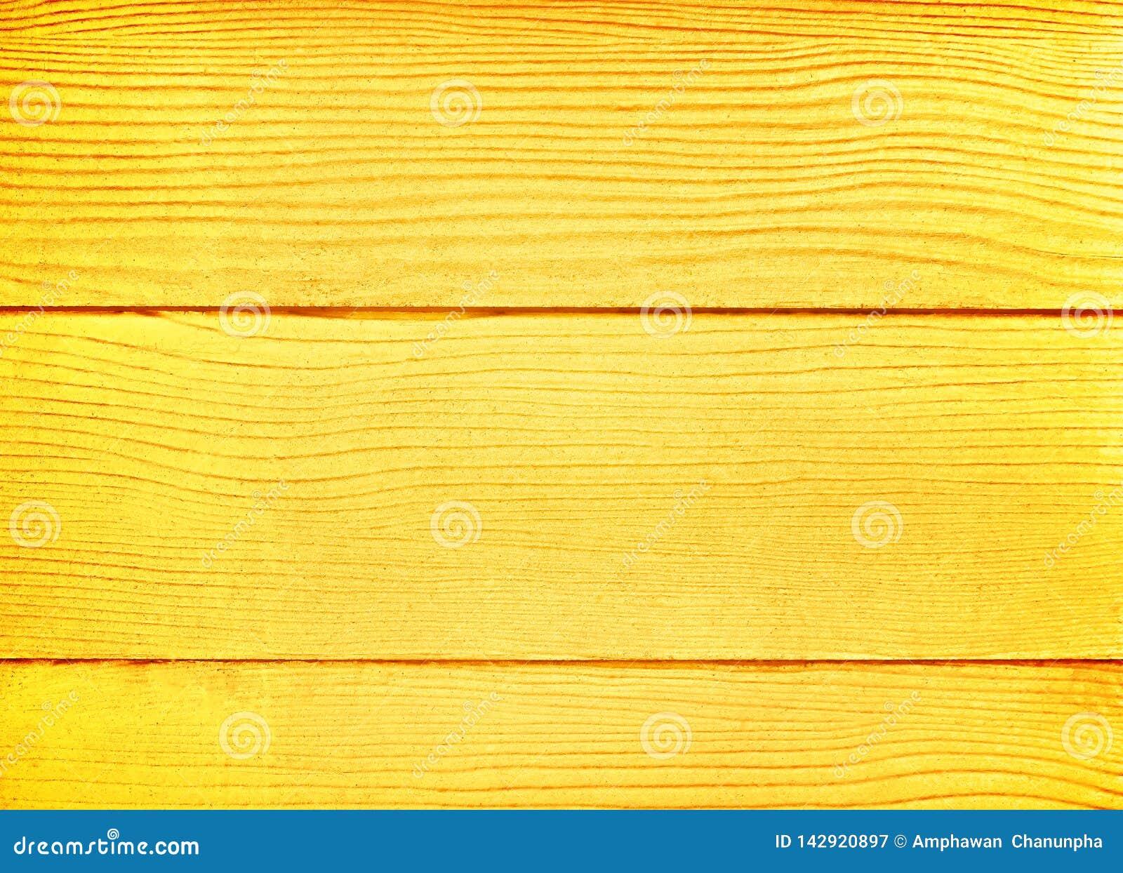 Guld- träbakgrund, tom plankaväggtextur i horisontallinjen modeller