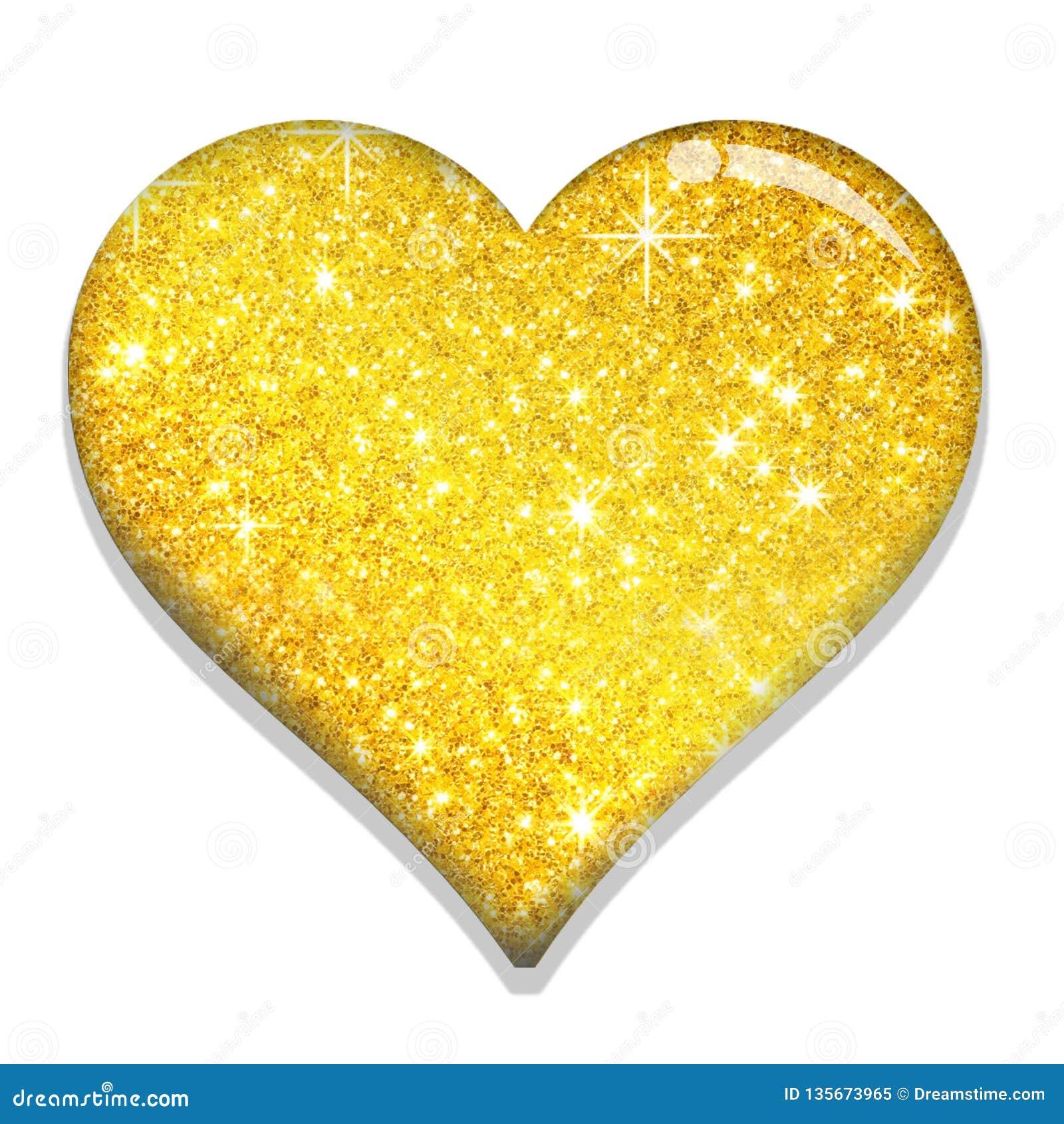 Guld- valentinFÖRÄLSKELSE SHAPE