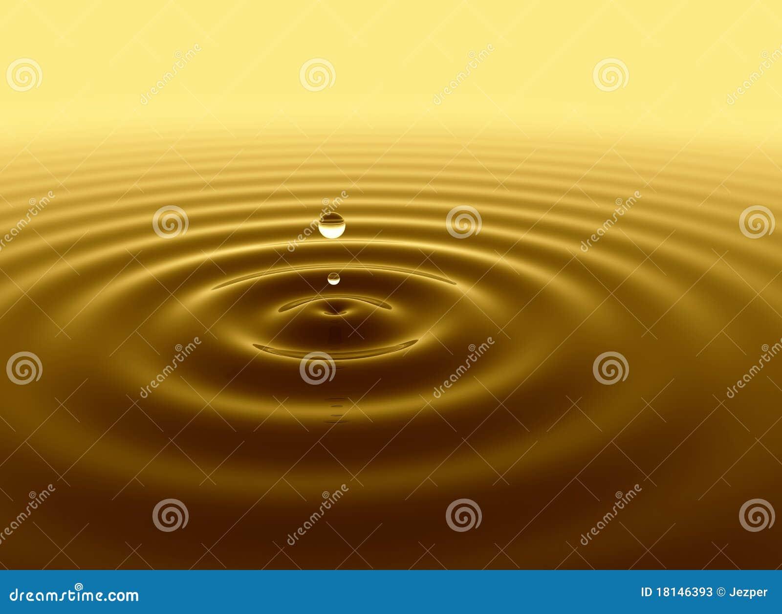 Guld- vatten för droppe