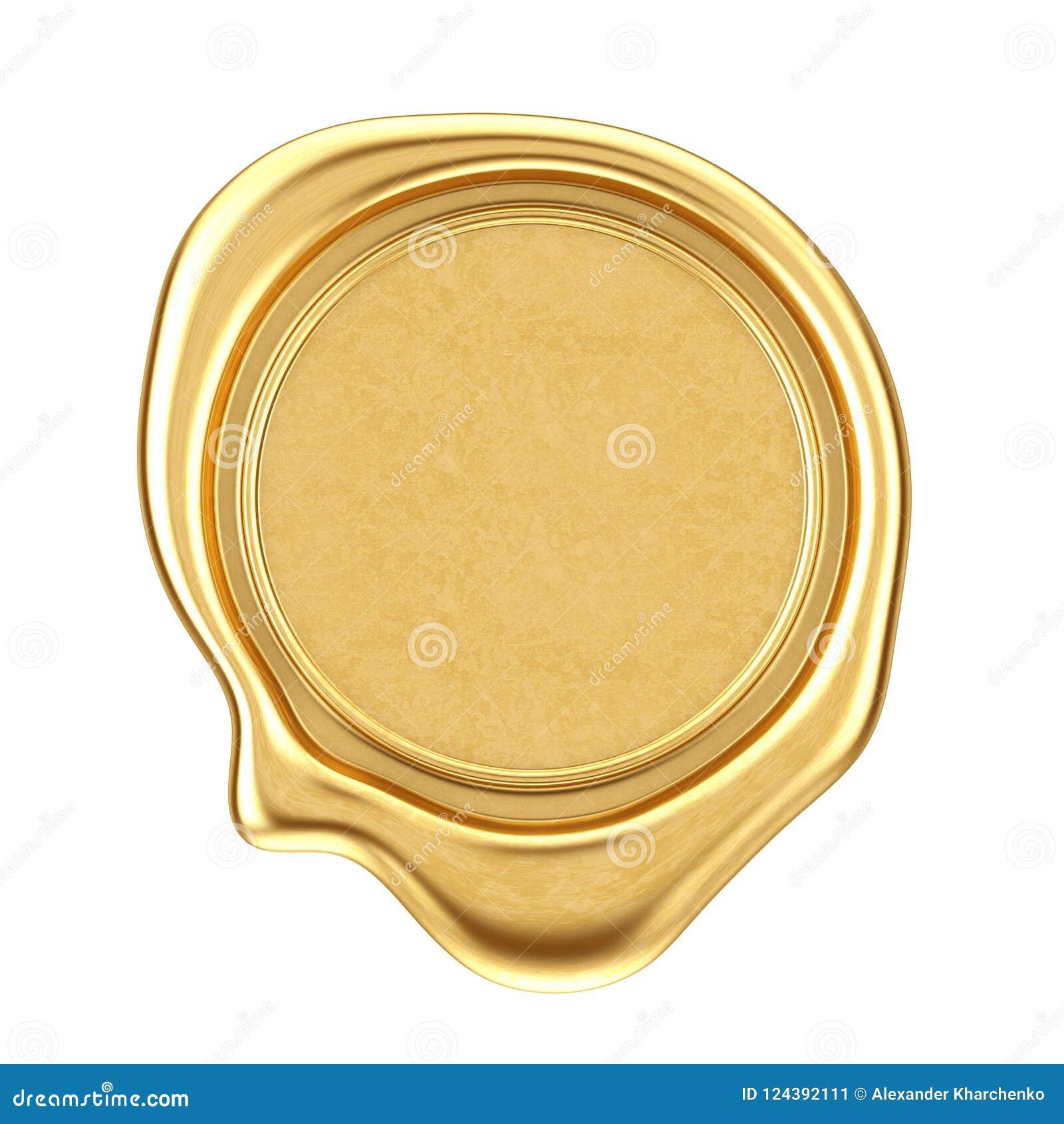 Guld- vaxskyddsremsa med tomt utrymme för din design framförande 3d