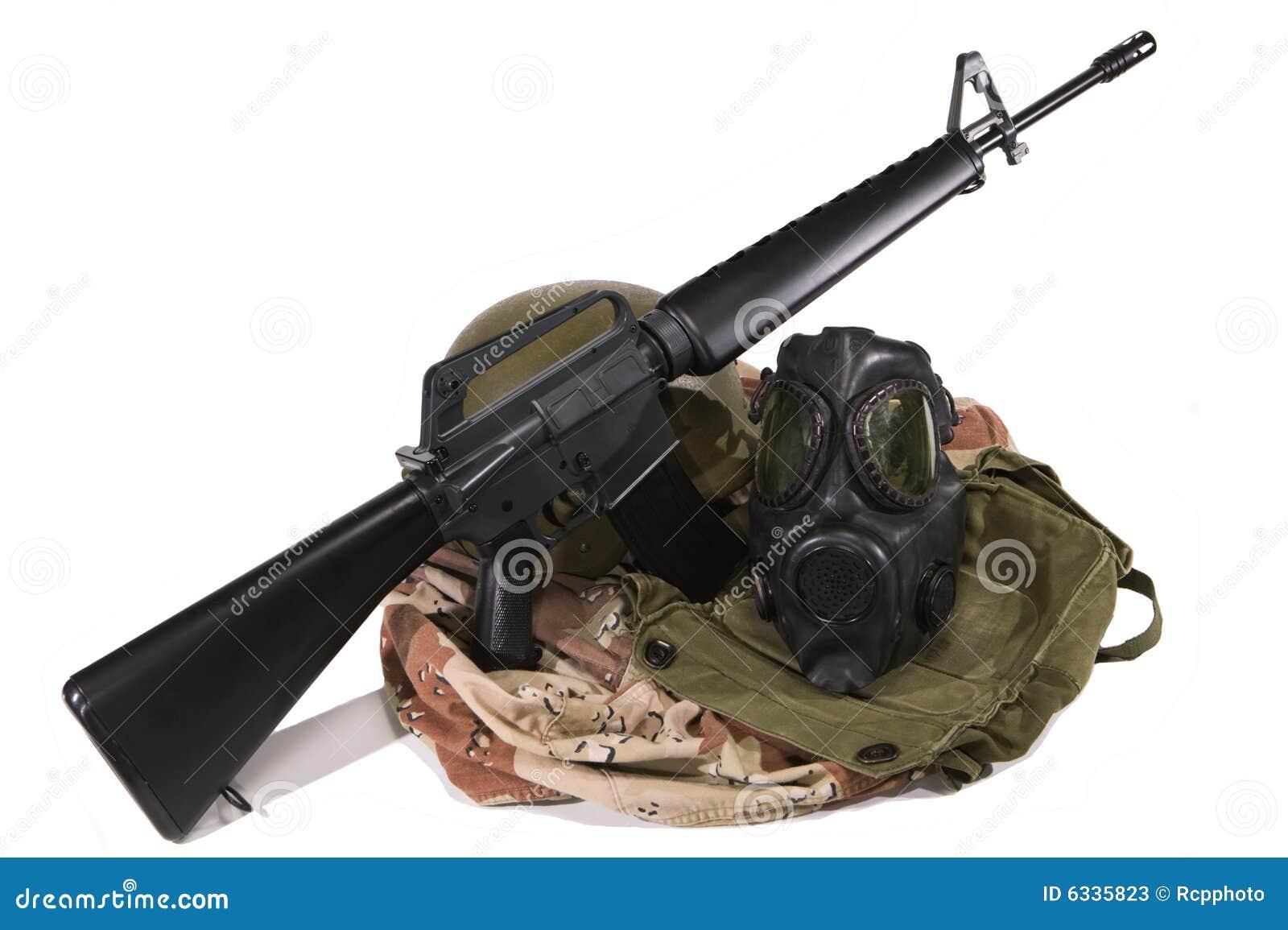 Gulf War US Army Uniform And M16 Rifle Stock Photos ... M16