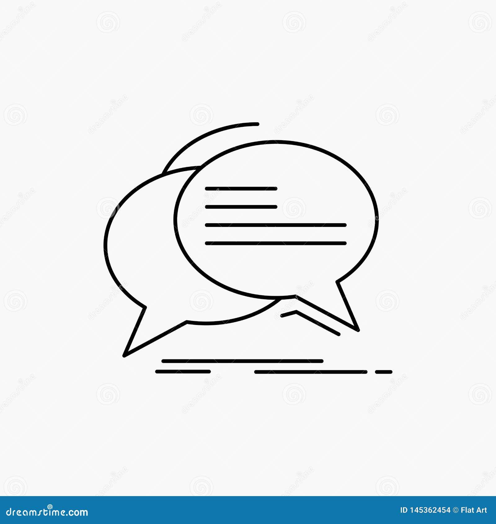 Gulgocze, gaw?dzi, komunikacja, mowa, rozmowy Kreskowa ikona Wektor odosobniona ilustracja