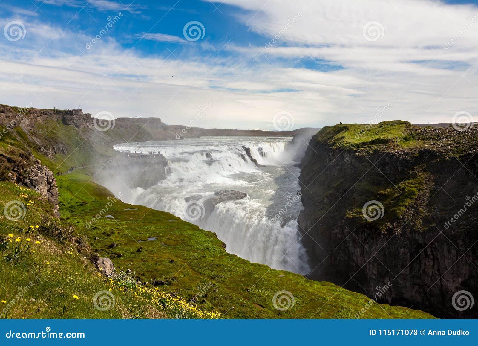 Gullfoss καταρράκτης της Ισλανδ