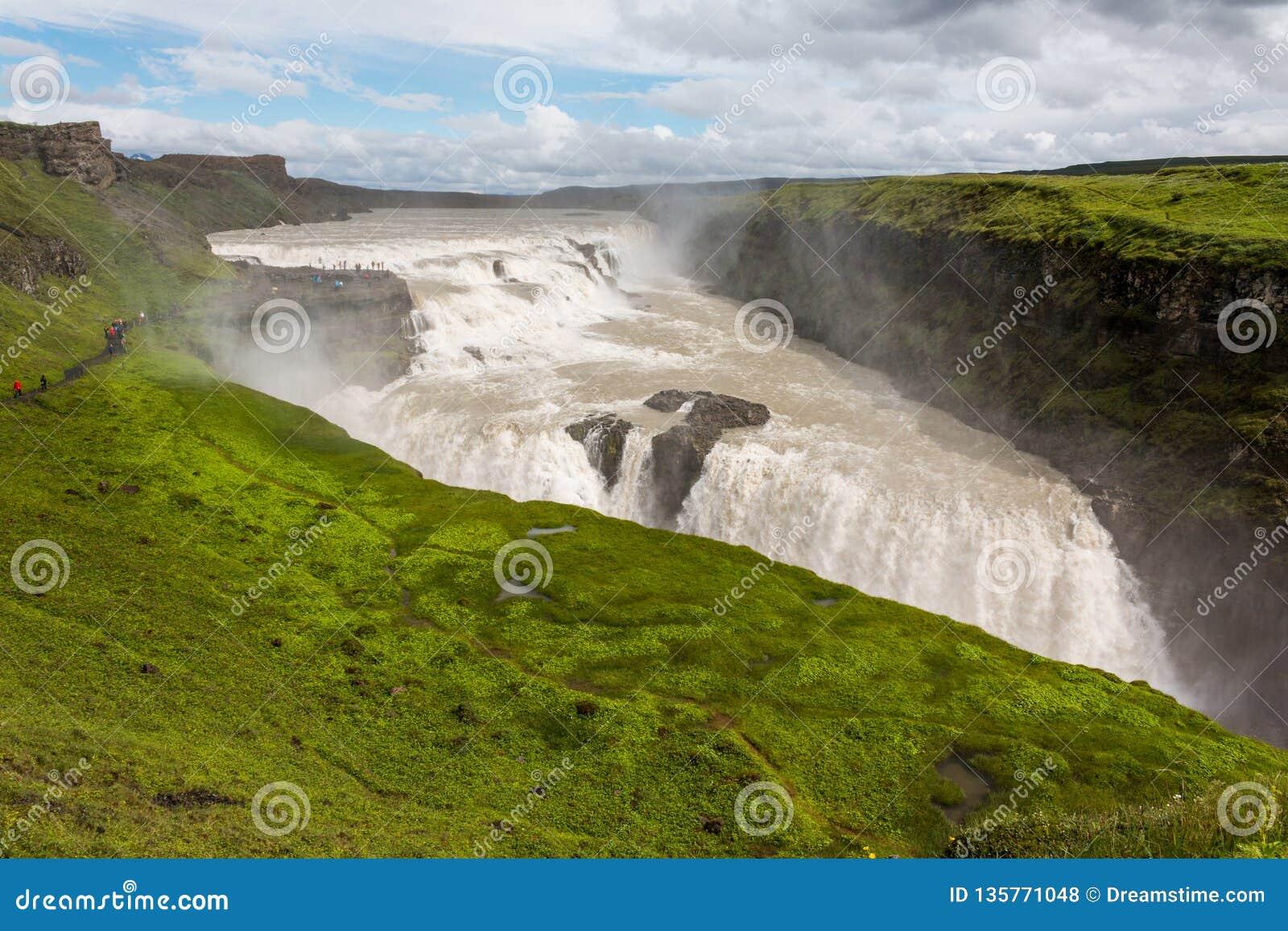 Gullfoss waterfall the golden fall in iceland